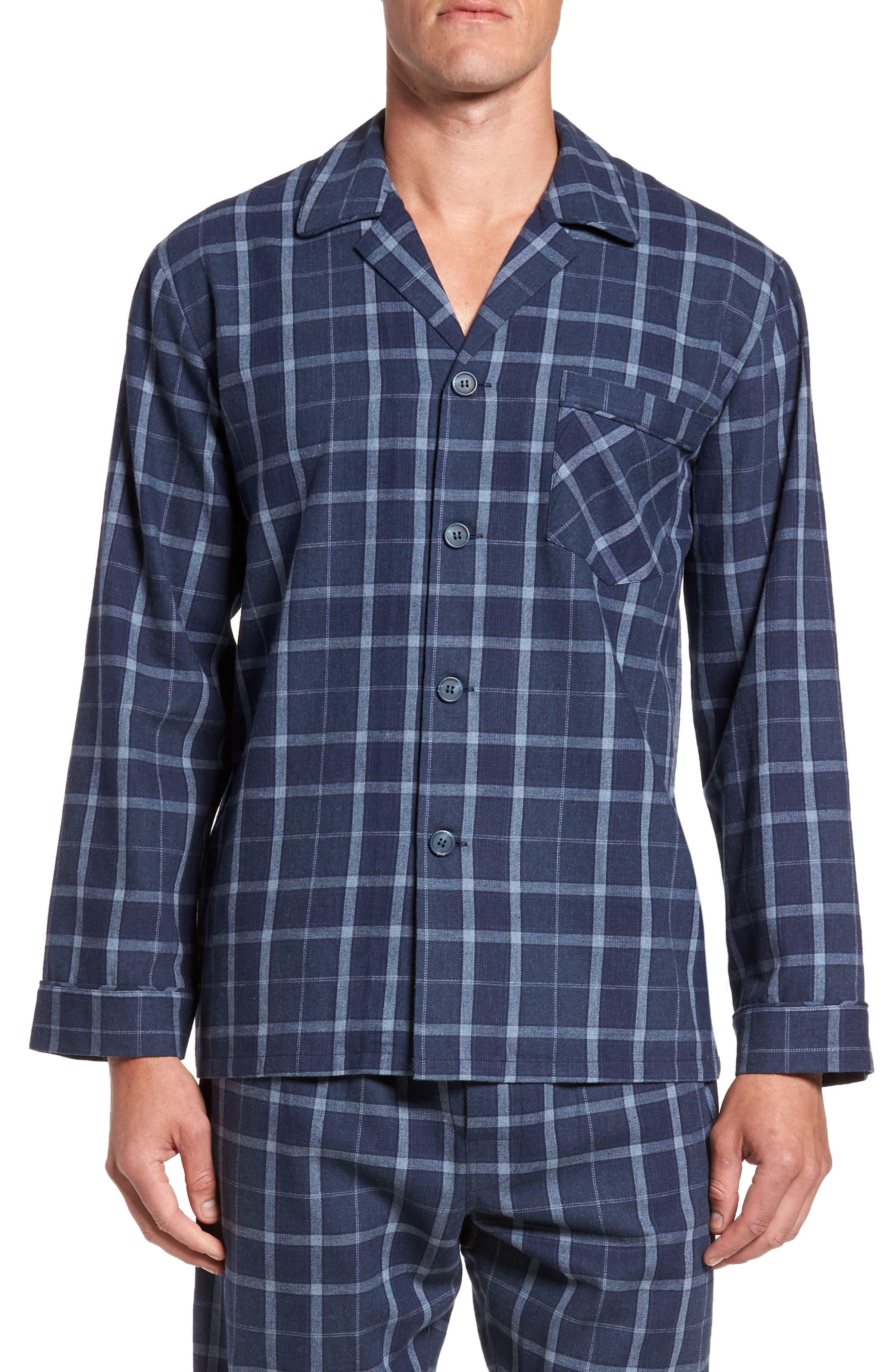 Guiness Plaid Pajama Set,                             Alternate thumbnail 5, color,                             400