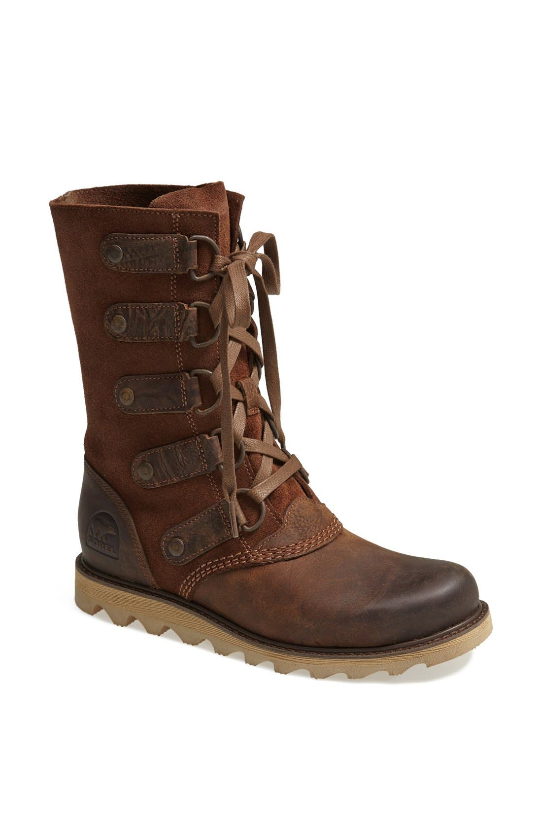 SOREL,                             'Scotia' Lace-Up Waterproof Leather Boot,                             Main thumbnail 1, color,                             202