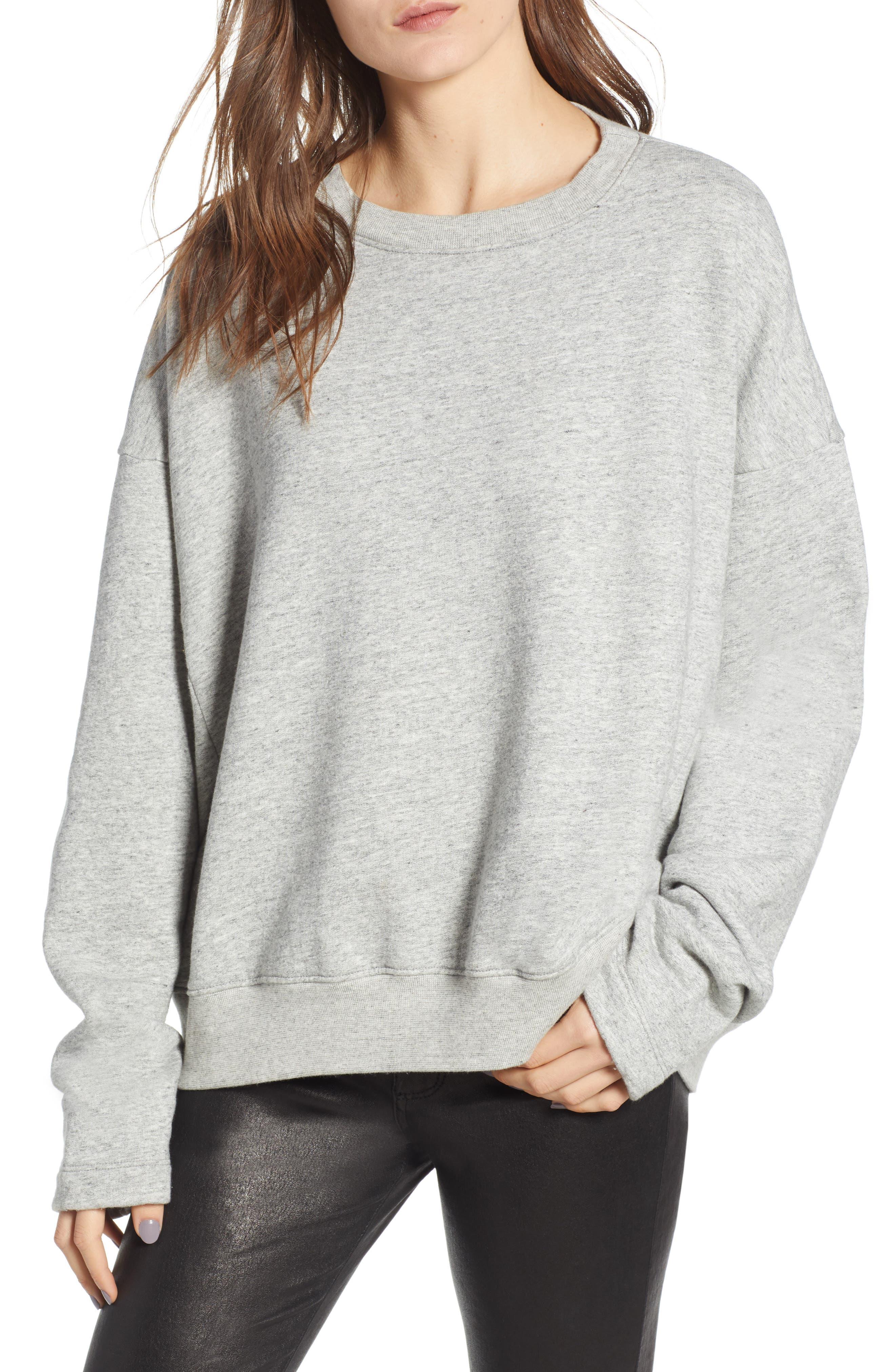 Berdine Oversize Sweatshirt,                             Main thumbnail 1, color,                             HEATHER GREY
