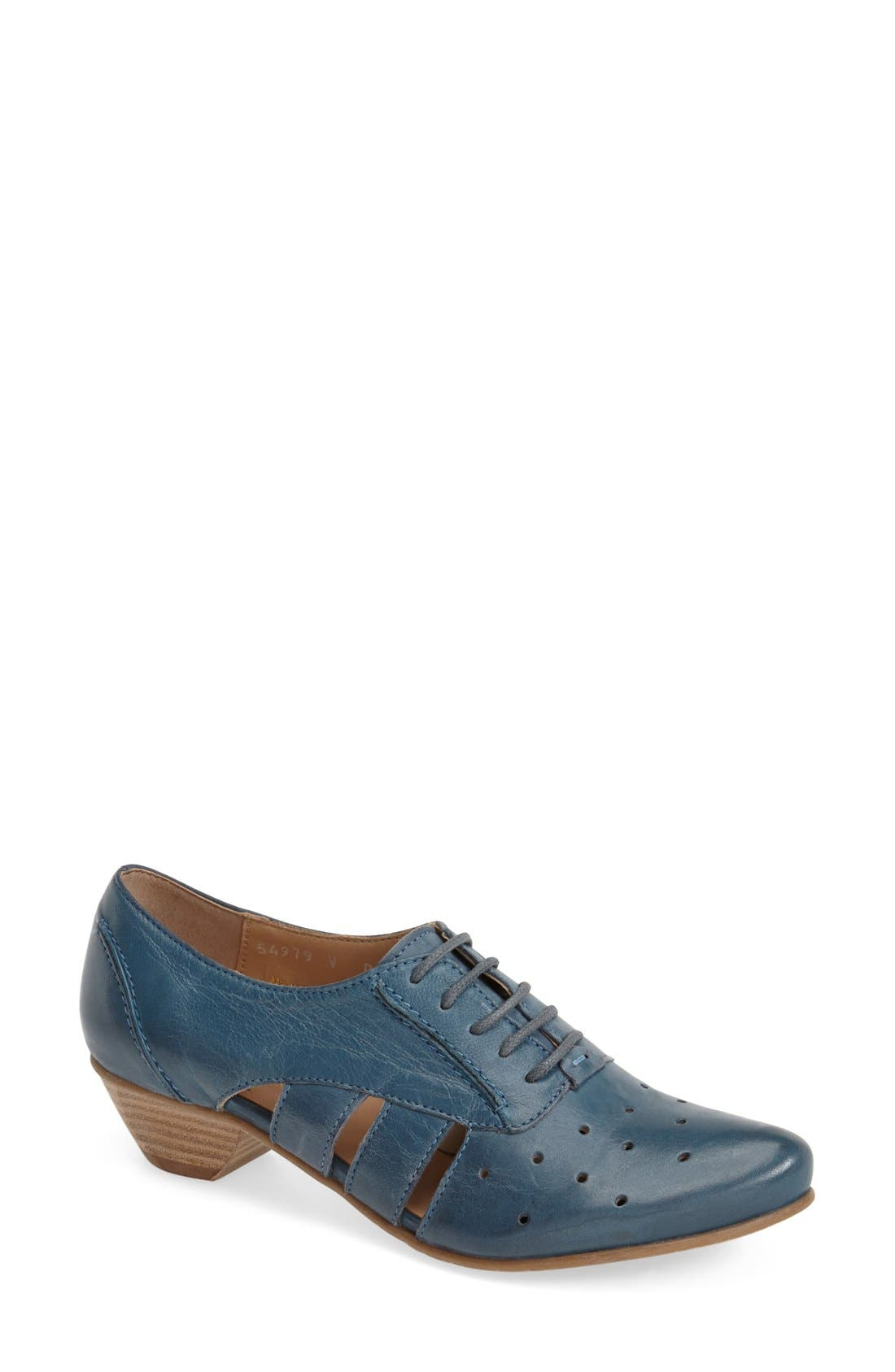 'VO92' Perforated Leather Pump,                             Main thumbnail 1, color,                             400
