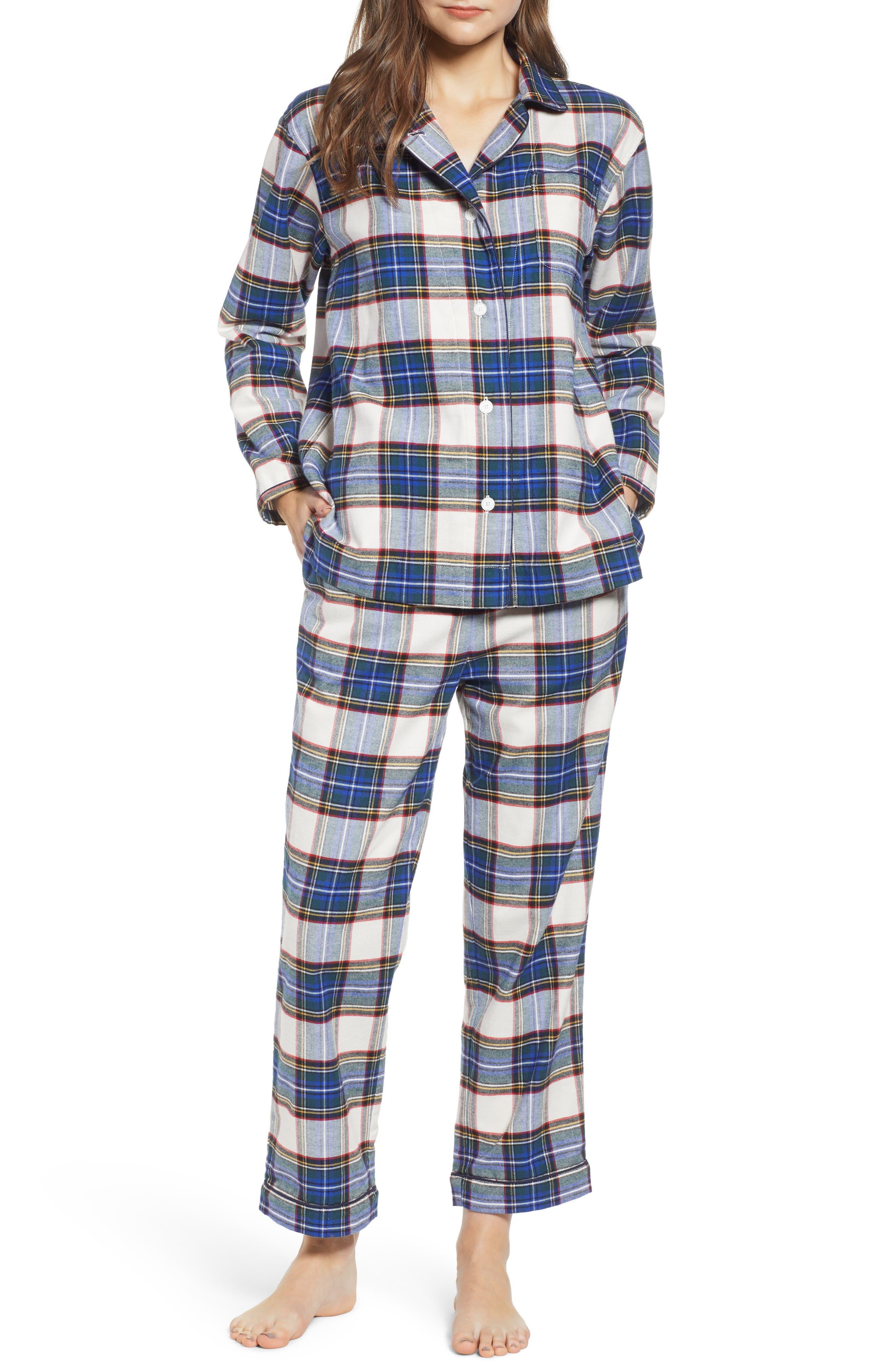 SLEEPY JONES Pajamas in Flannel Plaid