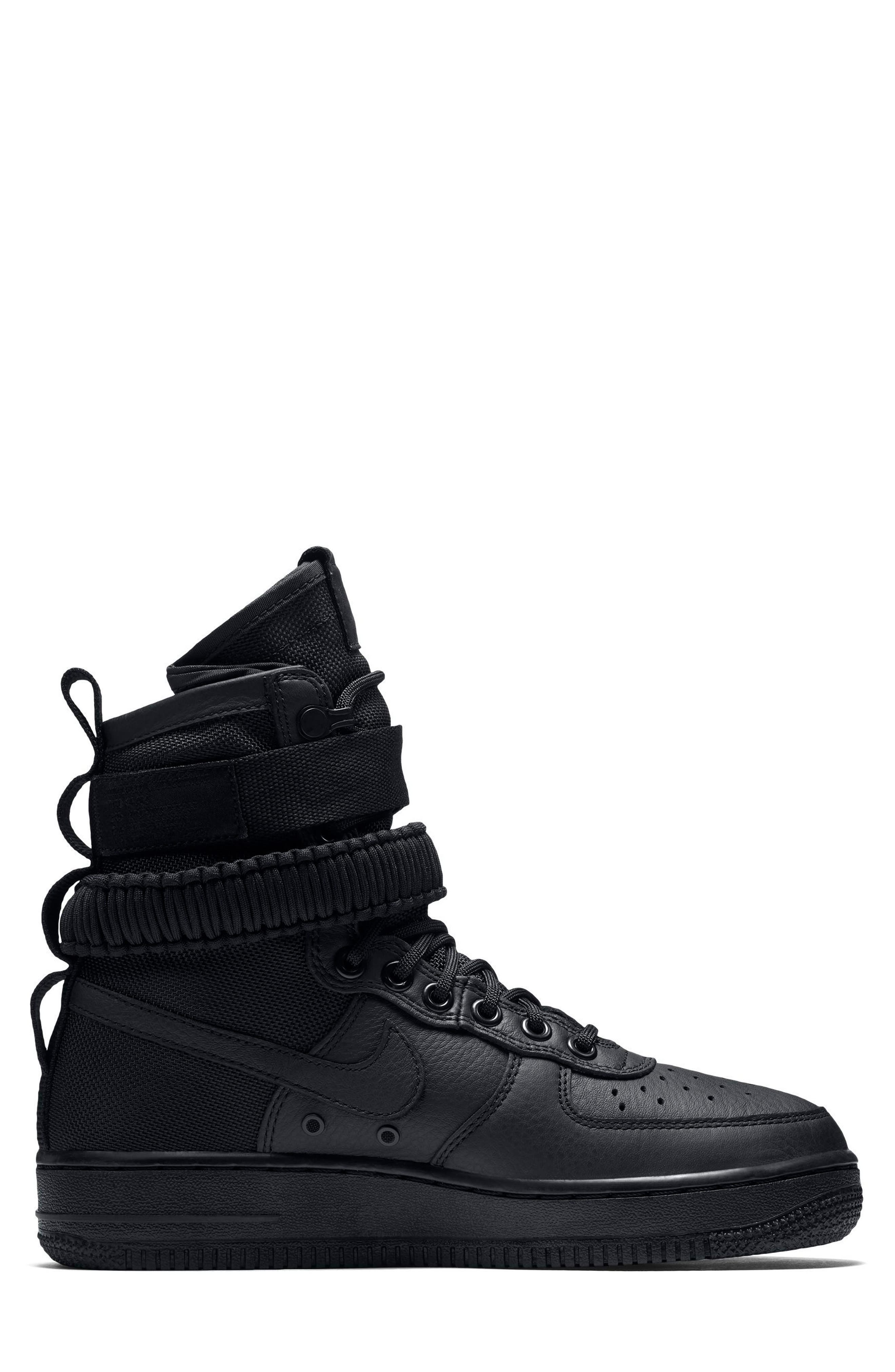 SF Air Force 1 High Top Sneaker,                             Alternate thumbnail 3, color,                             002