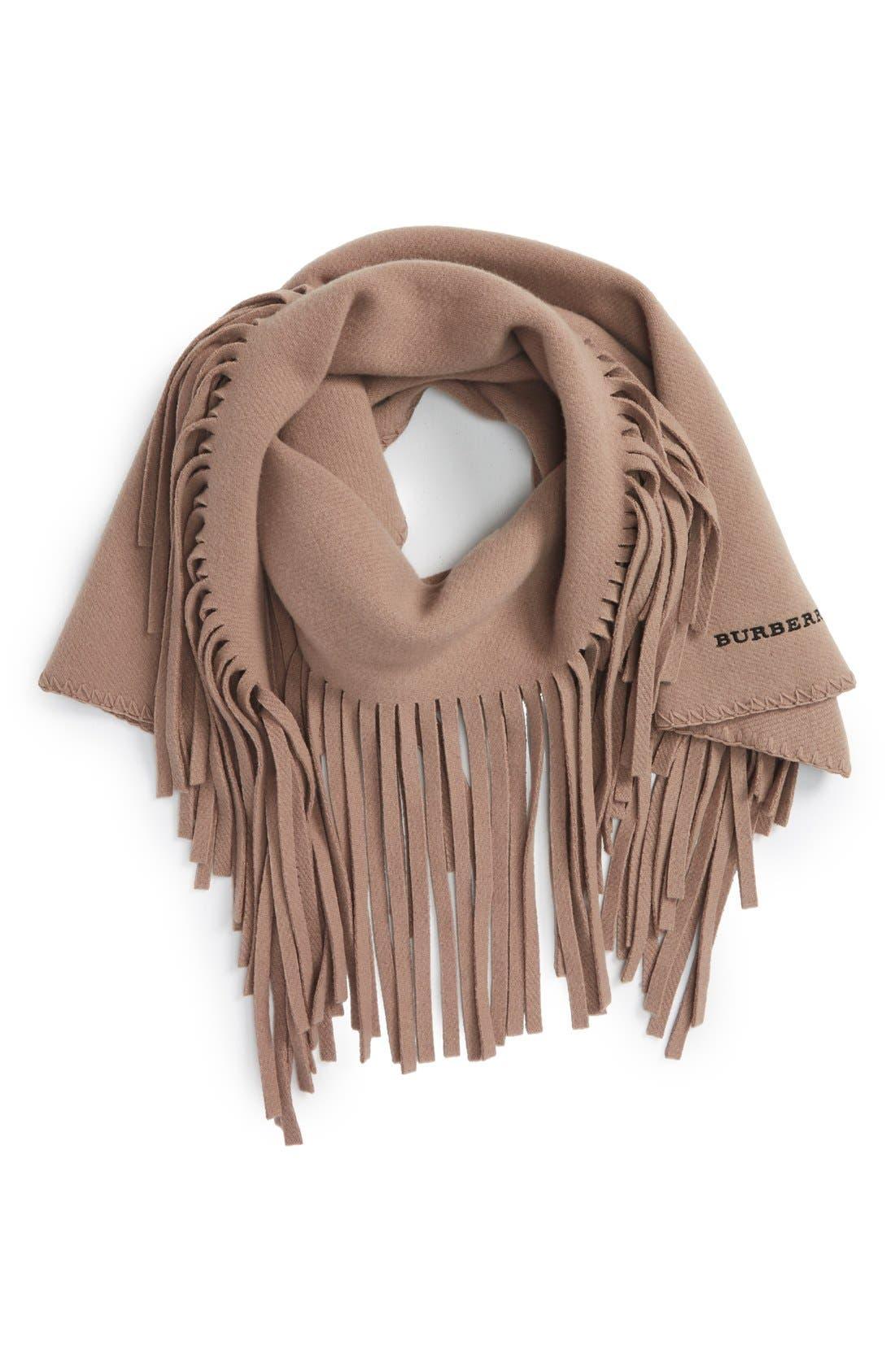Wool Blend Fringe Scarf, Main, color, 250