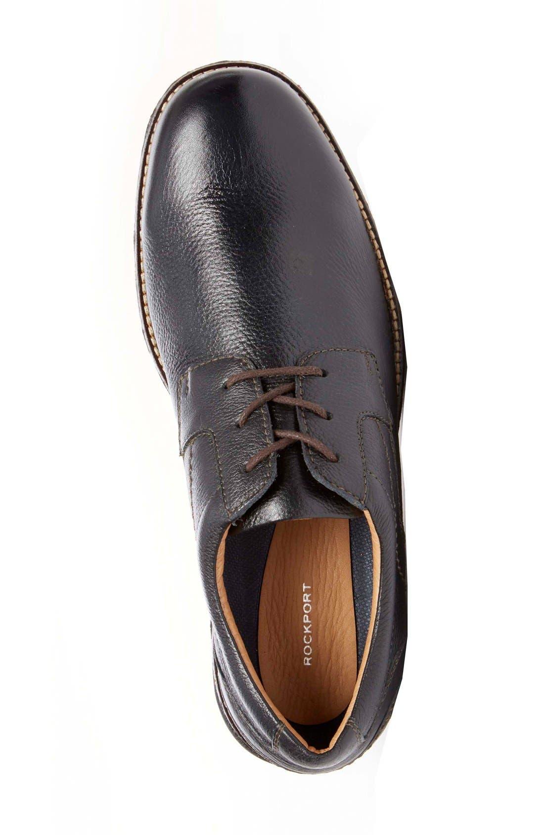 'Premium Class' Plain Toe Derby,                             Alternate thumbnail 5, color,                             001