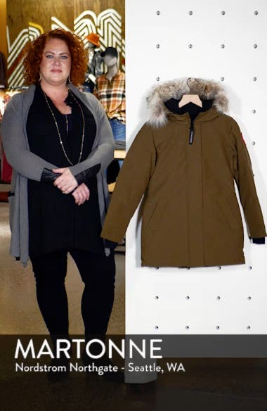 Victoria Fusion Fit Down Parka with Genuine Coyote Fur Trim, sales video thumbnail