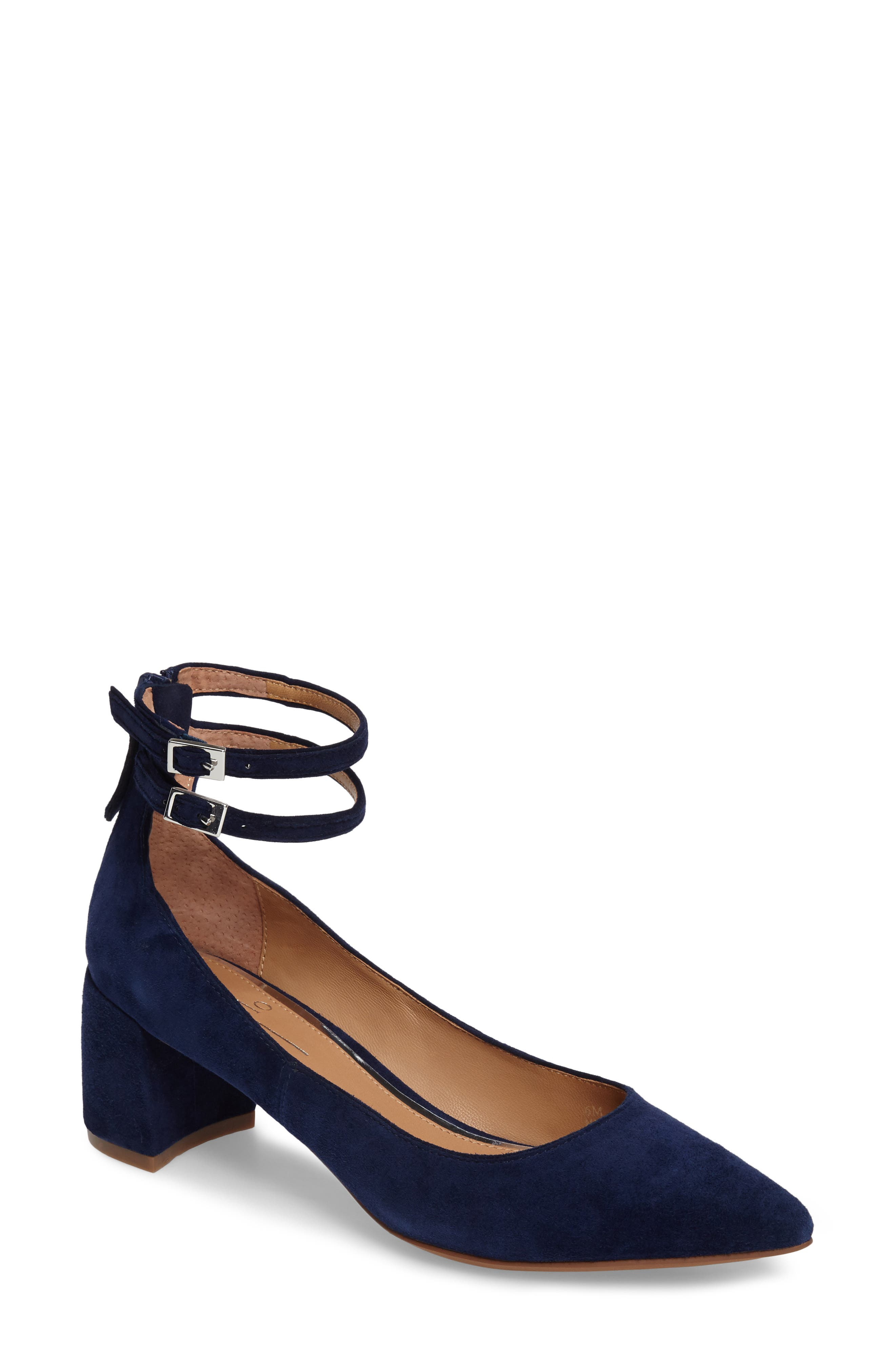 'Noel' Pointy Toe Ankle Strap Pump,                             Main thumbnail 1, color,                             412