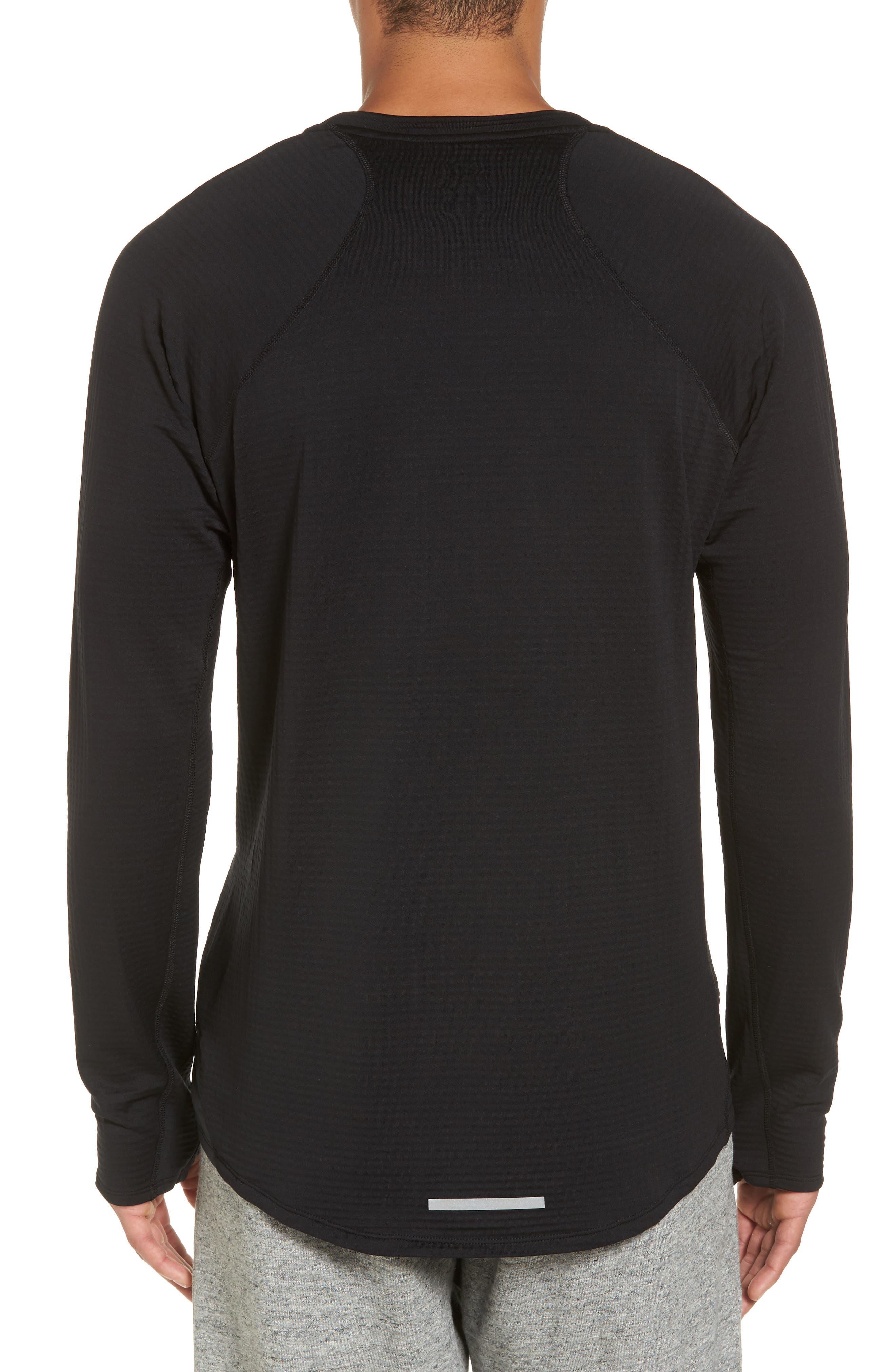 ThermaSphere Long Sleeve Running T-Shirt,                             Alternate thumbnail 2, color,                             011