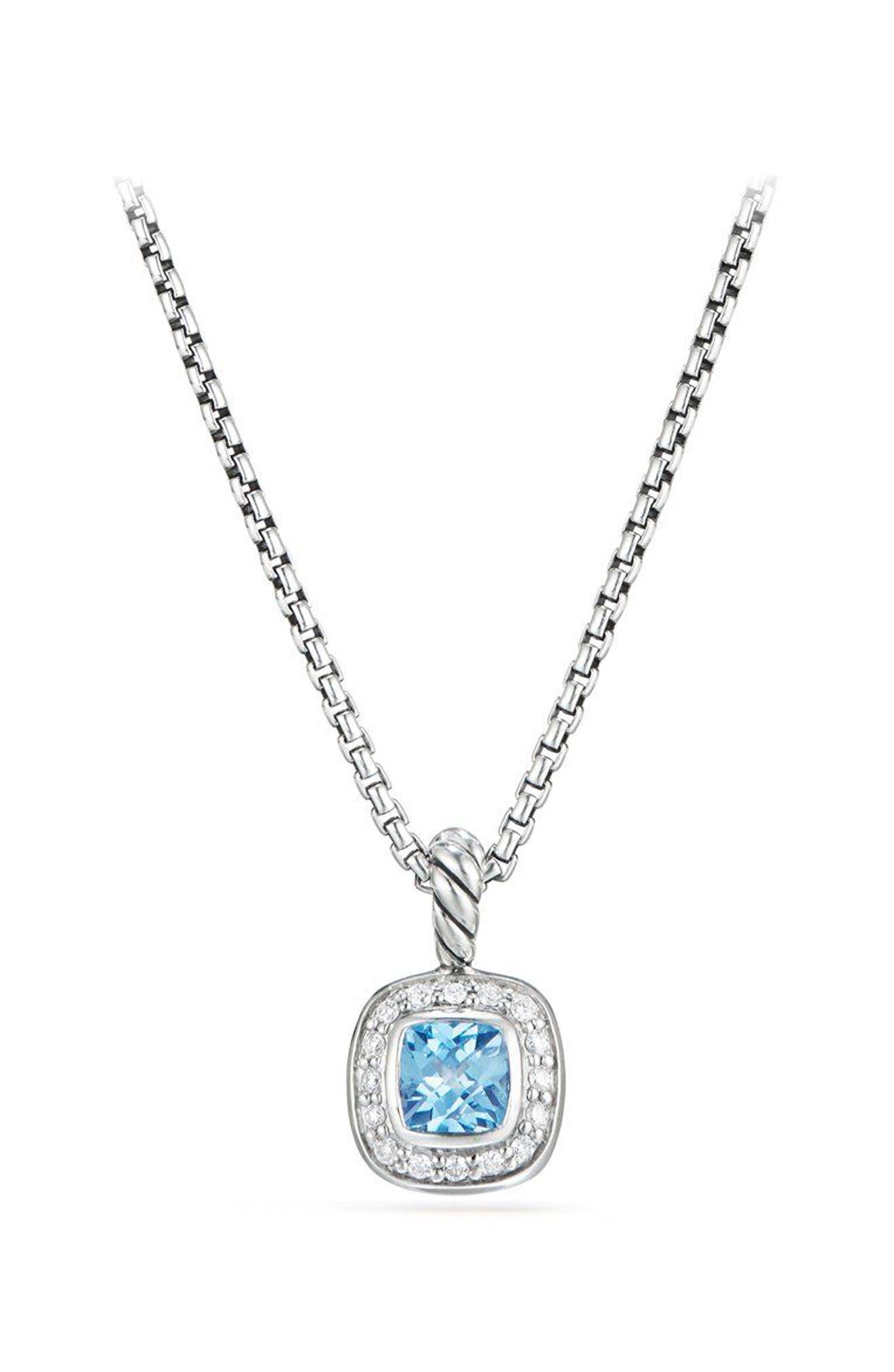 Albion<sup>®</sup> Necklace with Diamonds,                             Main thumbnail 1, color,                             BLUE TOPAZ