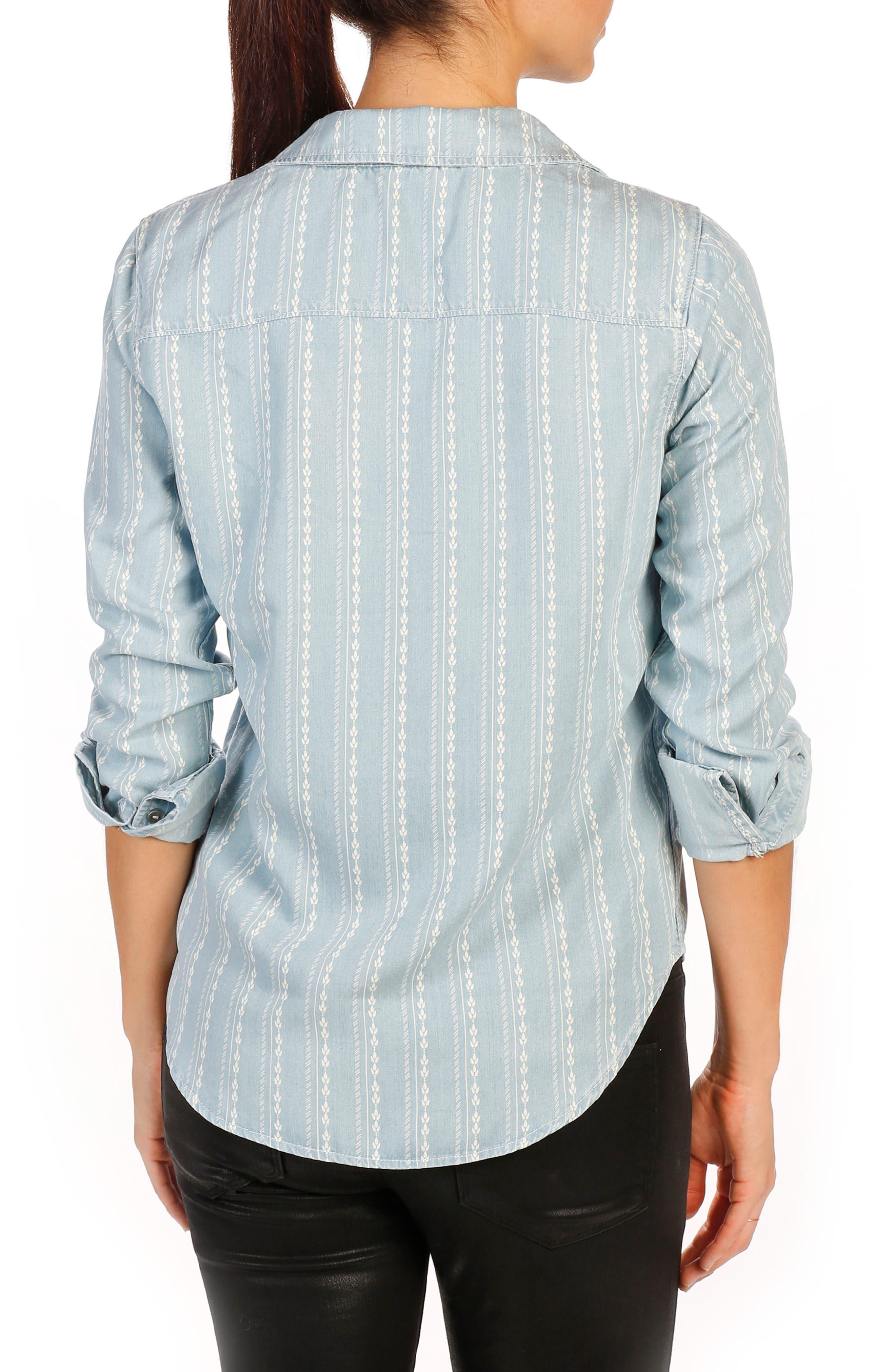 Trista Denim Shirt,                             Alternate thumbnail 2, color,                             400