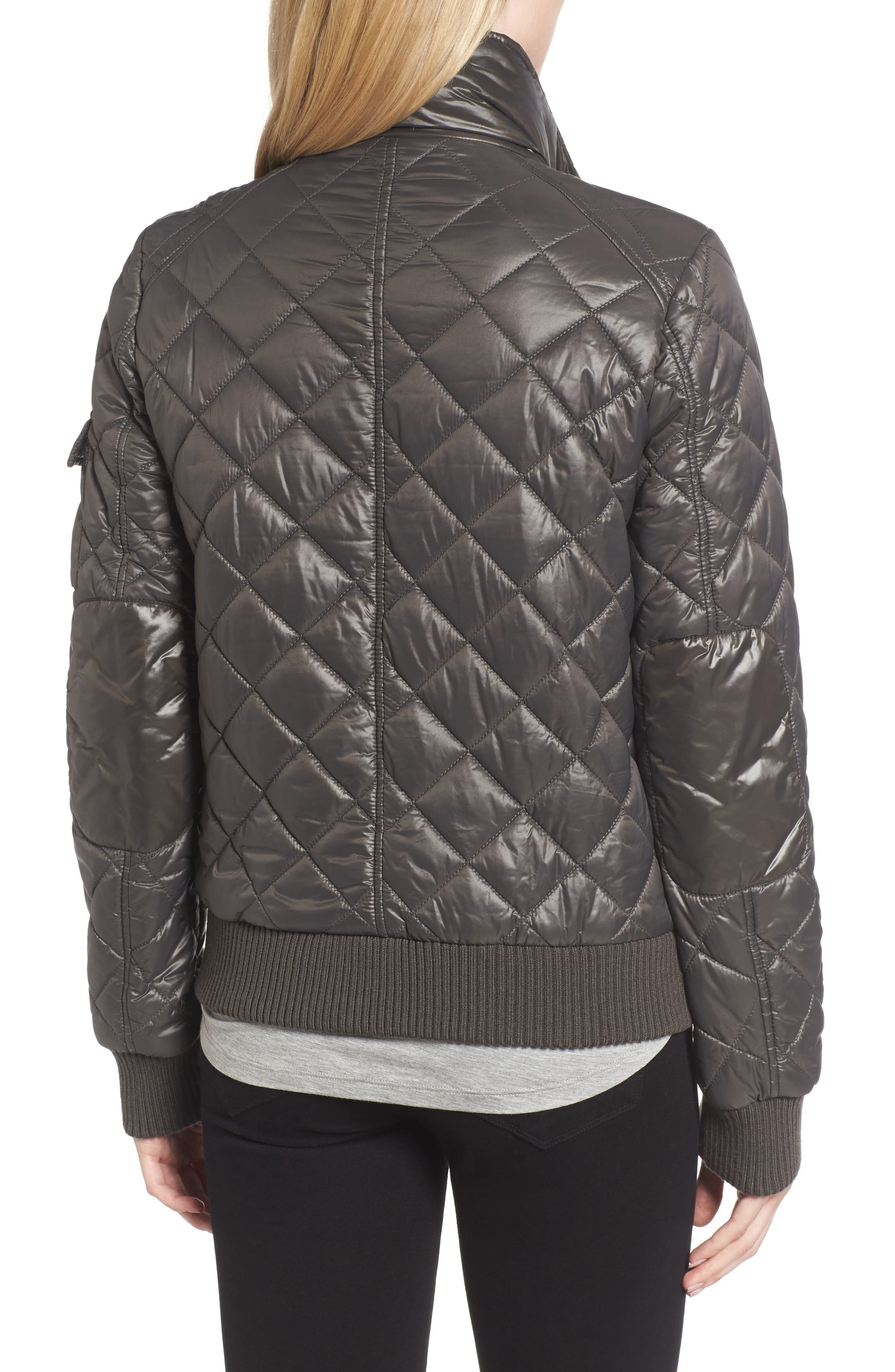 Quilted Bomber Jacket,                             Alternate thumbnail 2, color,                             038