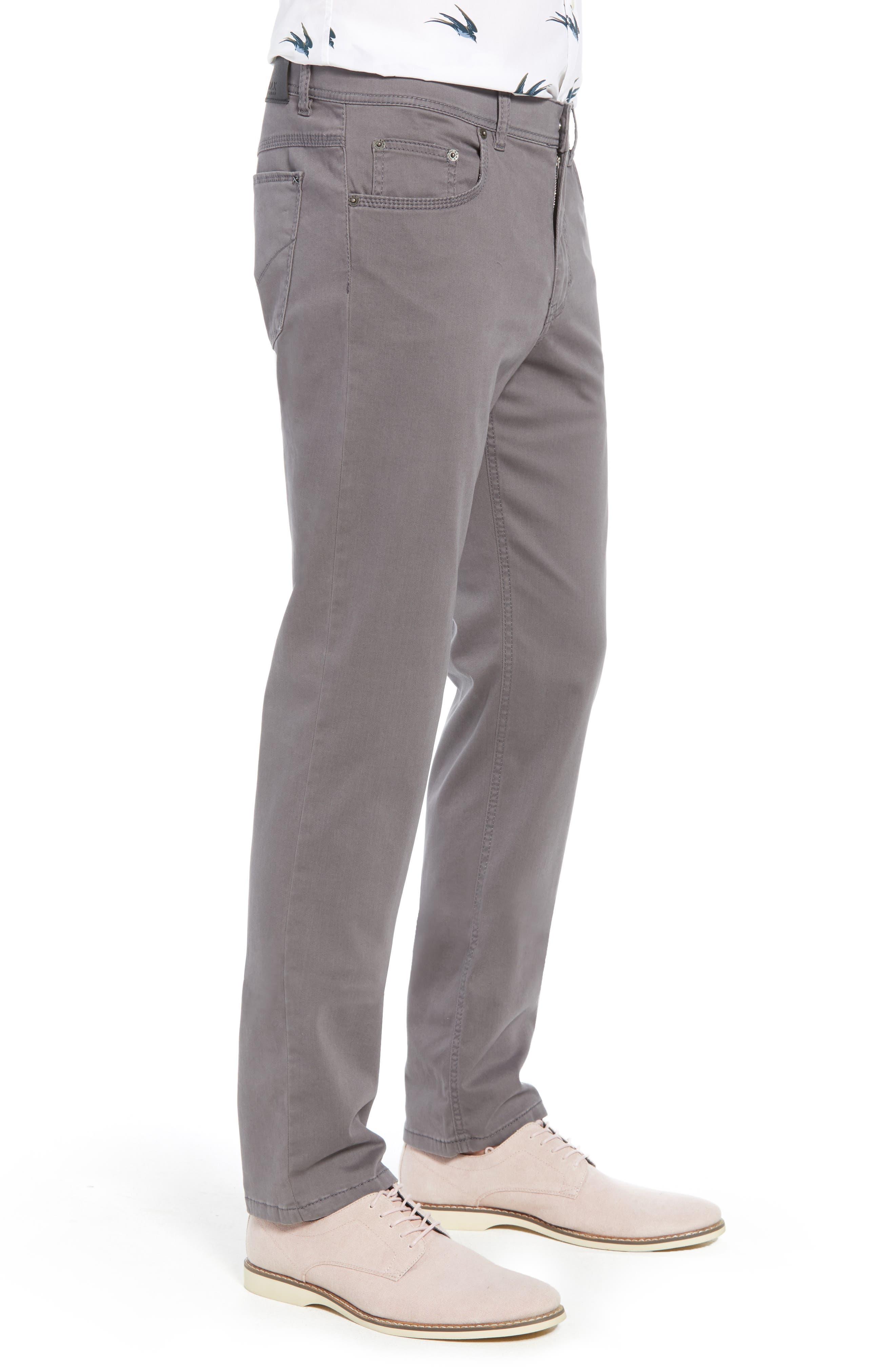 BRAX,                             Cooper Prestige Stretch Cotton Pants,                             Alternate thumbnail 3, color,                             GRAPHITE