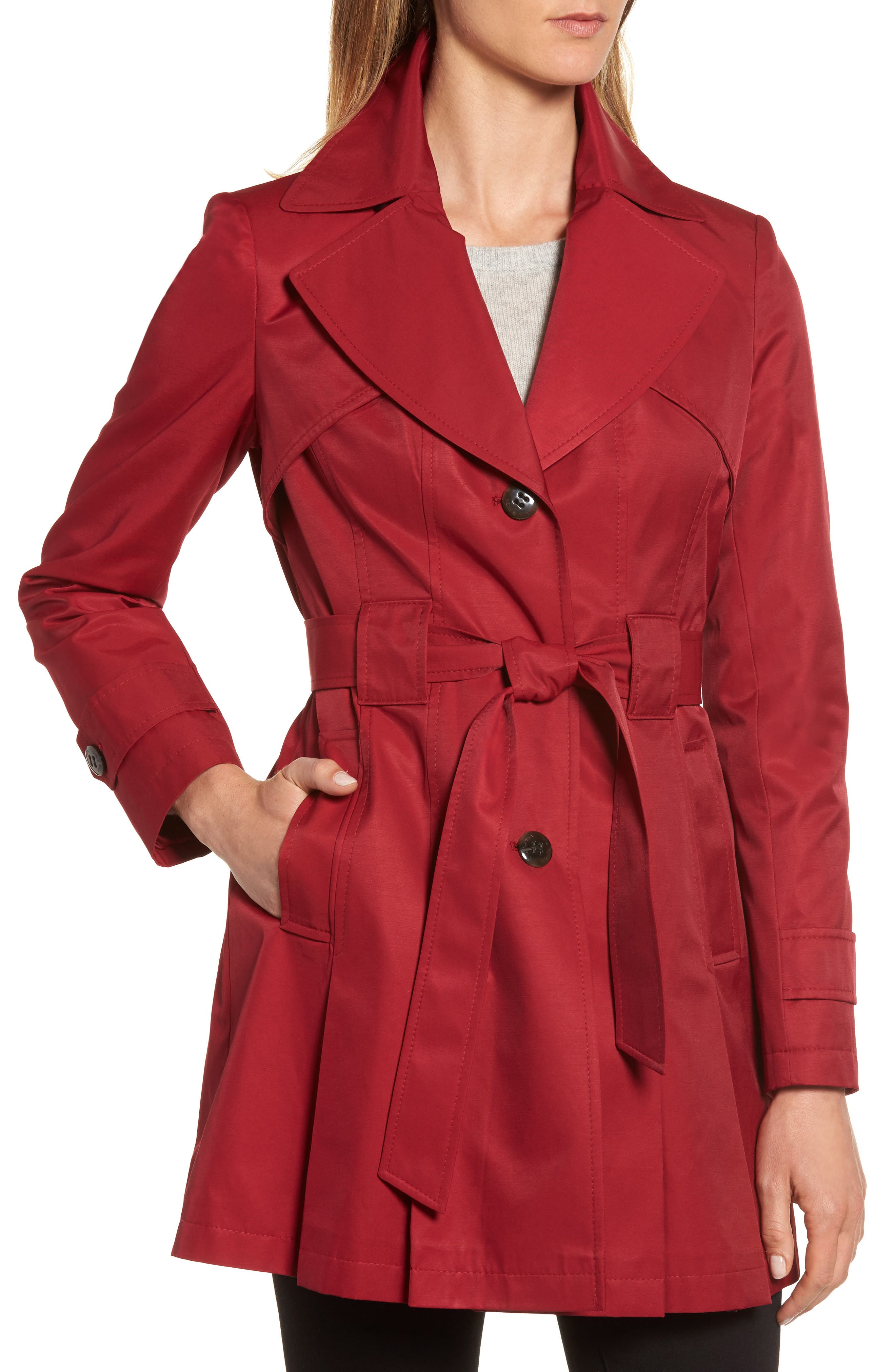 'Scarpa' Hooded Single Breasted Trench Coat,                             Alternate thumbnail 26, color,