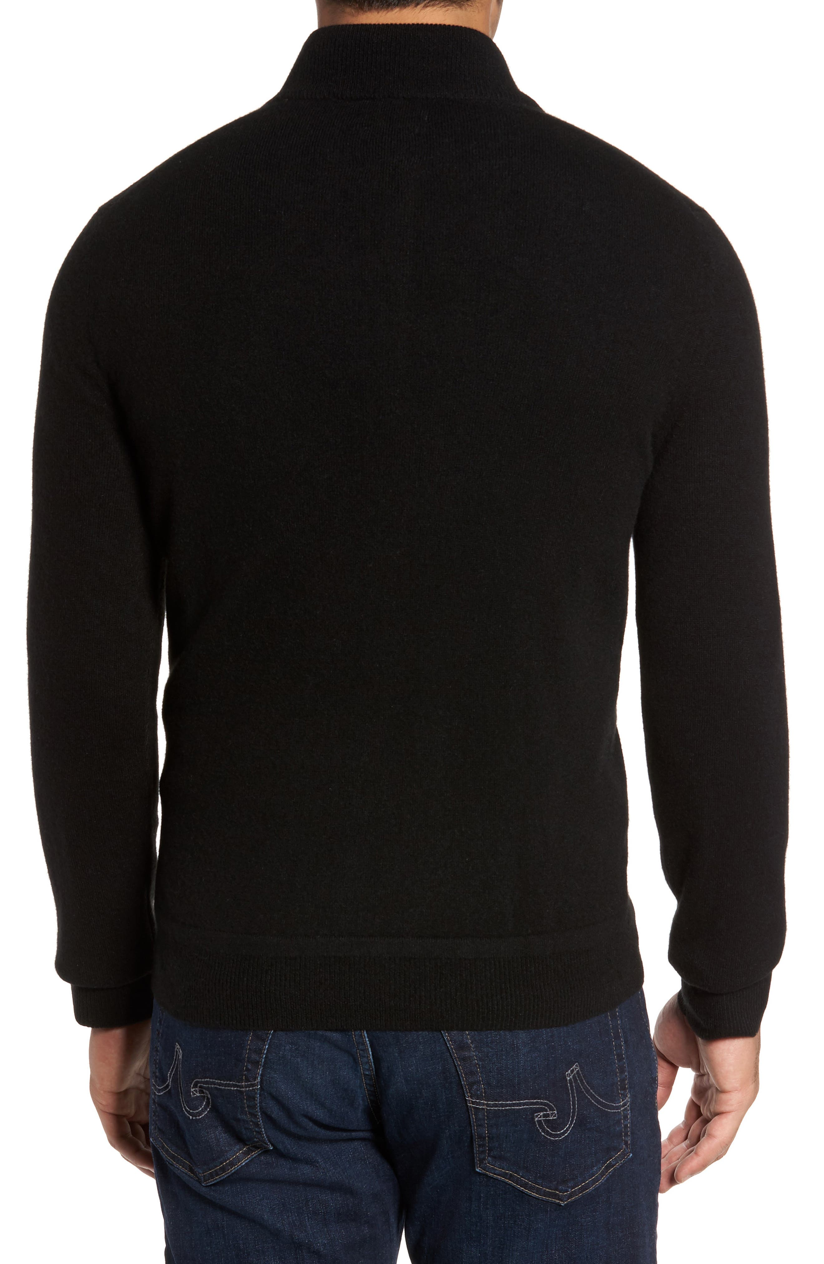Cashmere Quarter Zip Sweater,                             Alternate thumbnail 7, color,