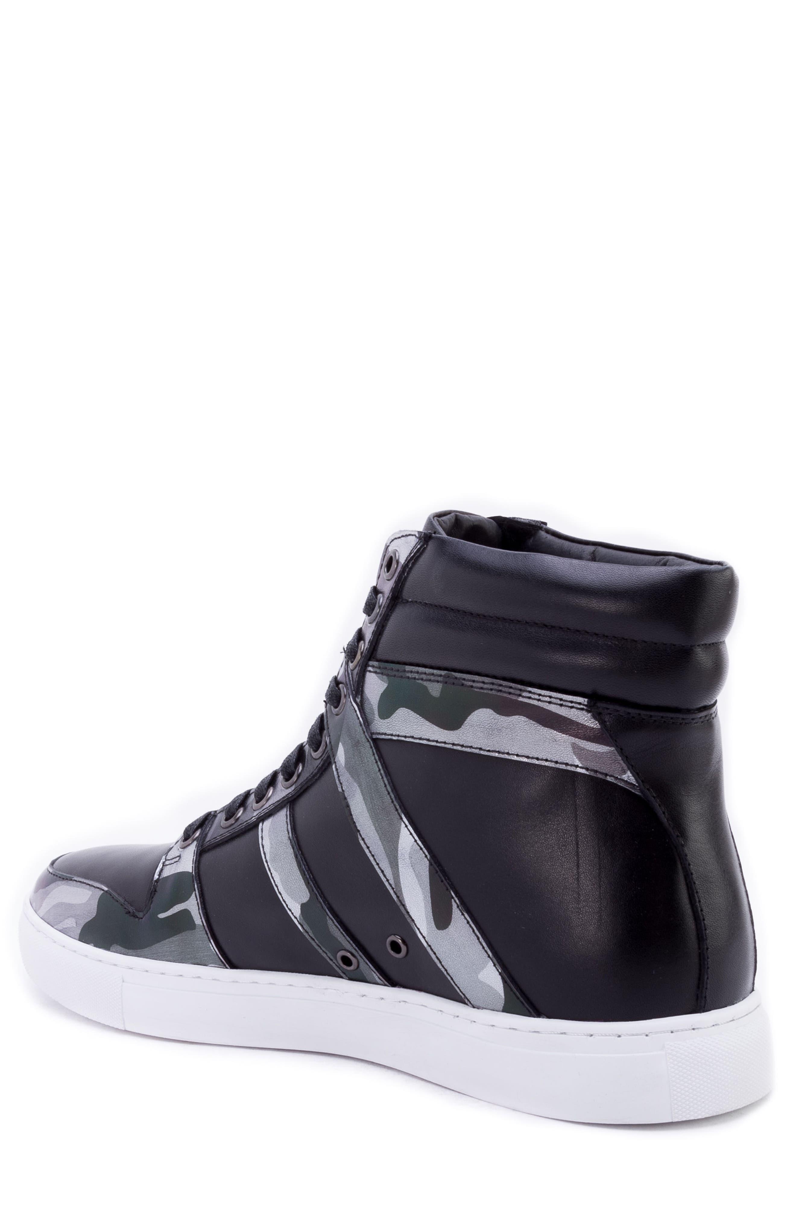 Sutherland Sneaker,                             Alternate thumbnail 2, color,                             BLACK LEATHER
