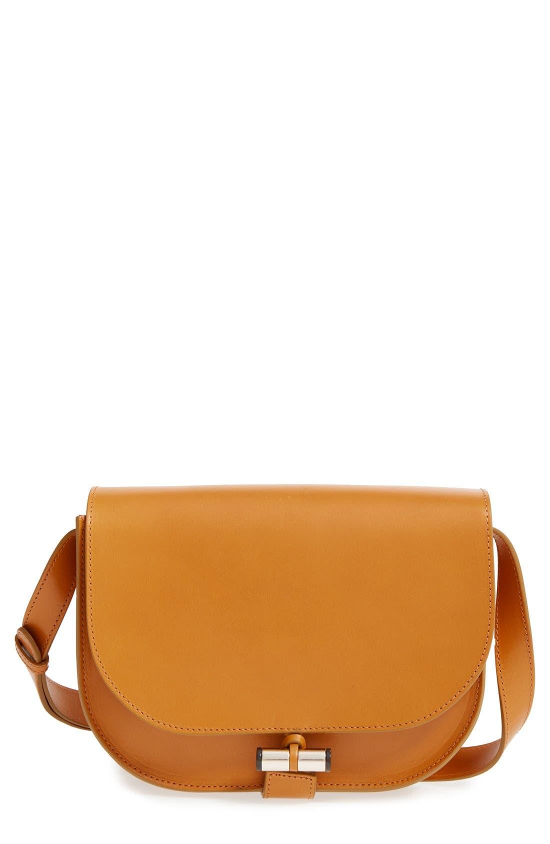 'Sac June' Leather Shoulder Bag, Main, color, 700