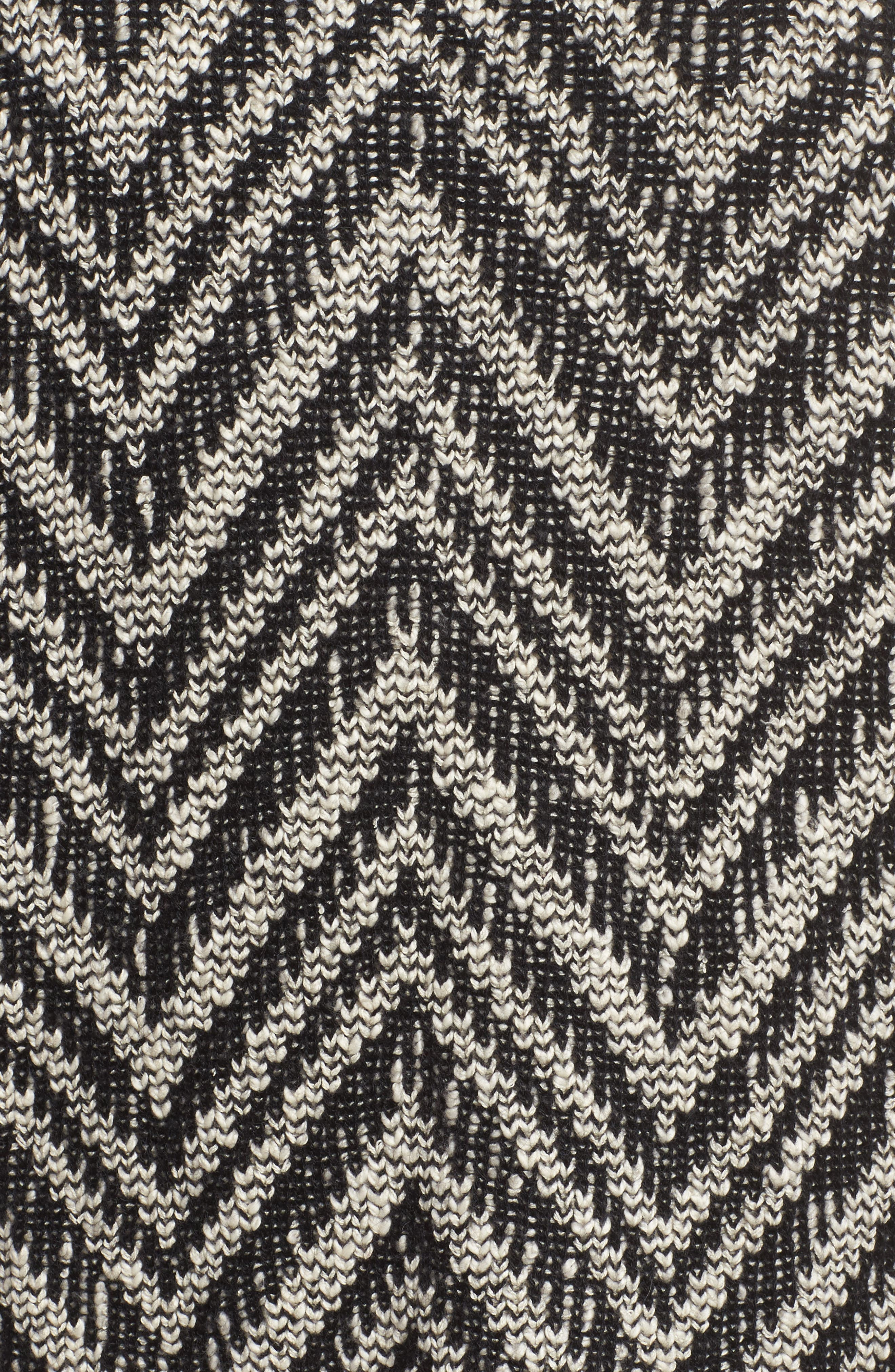 Zigzag Organic Cotton & Alpaca Tunic Sweater,                             Alternate thumbnail 5, color,                             012