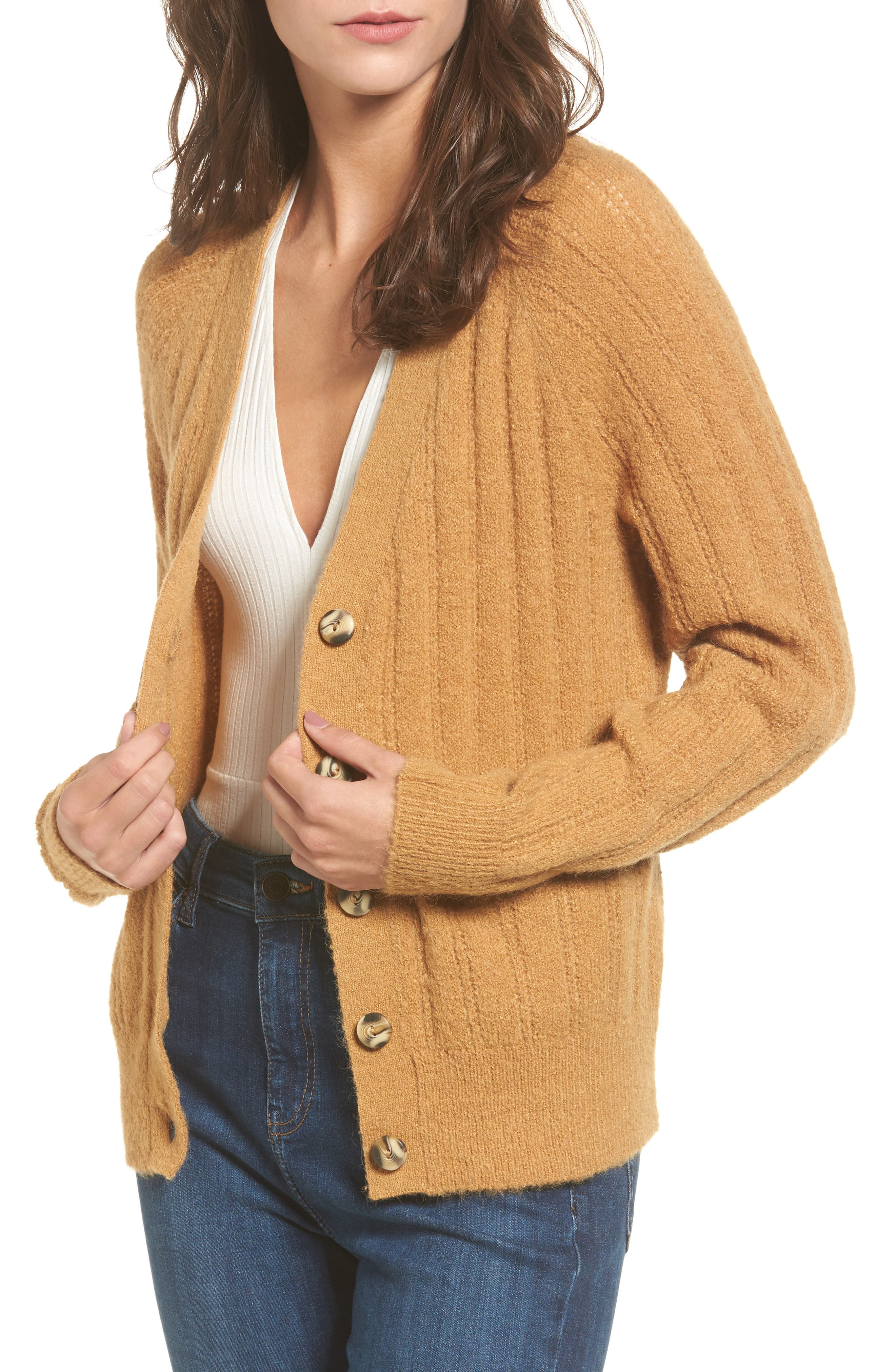 Rib Knit Grandpa Cardigan,                             Main thumbnail 1, color,