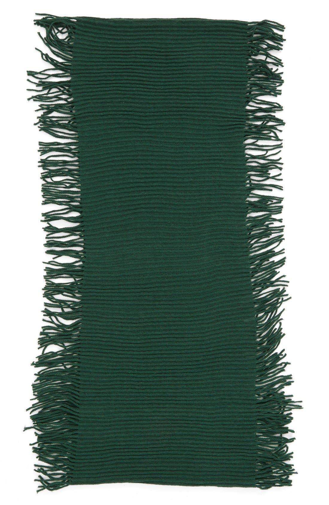 Rib Knit Fringe Infinity Scarf,                             Alternate thumbnail 16, color,