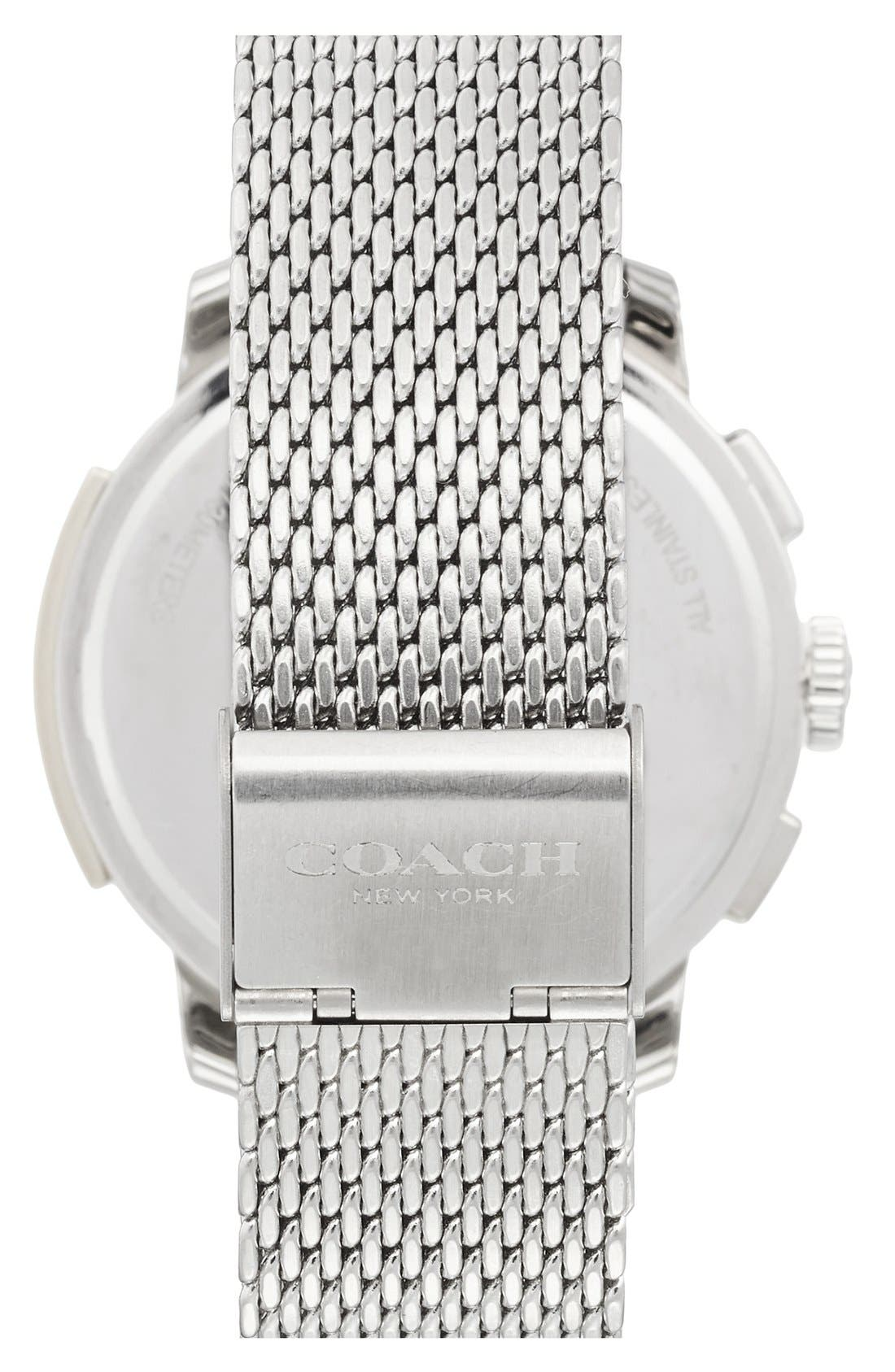 'Bleeker' Chronograph Mesh Strap Watch, 42mm,                             Alternate thumbnail 2, color,                             040