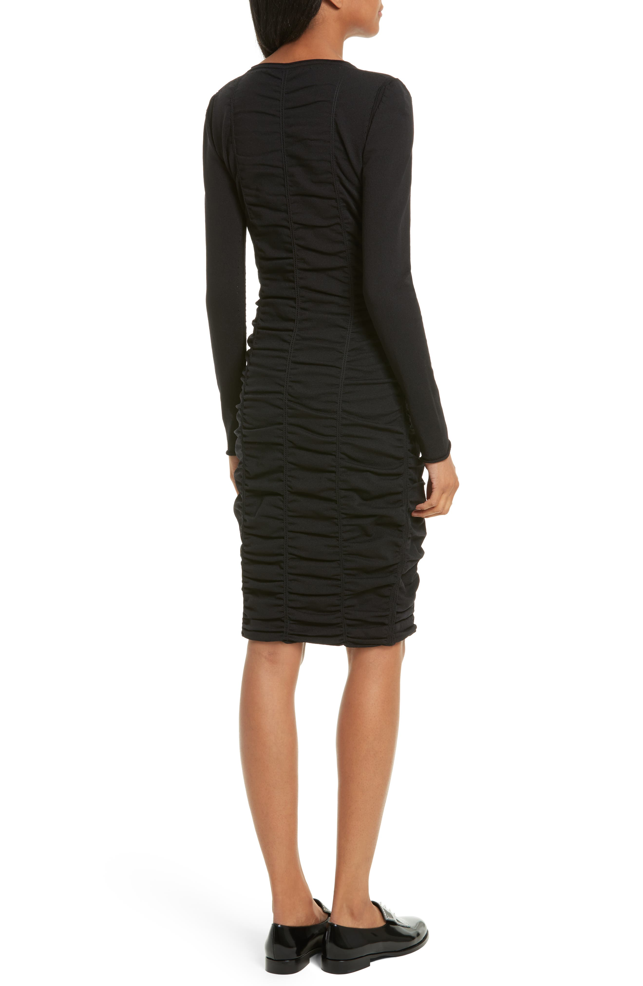 Ruched Dress,                             Alternate thumbnail 2, color,                             001