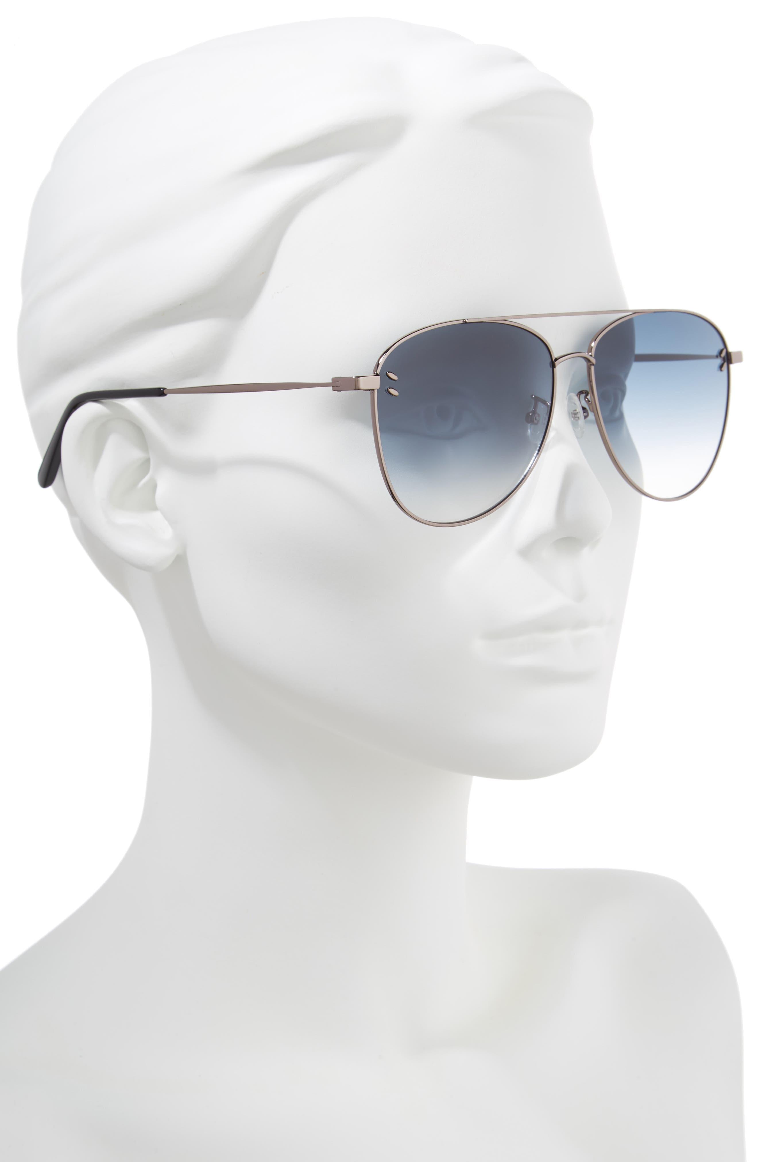 61mm Aviator Sunglasses,                             Alternate thumbnail 2, color,                             041