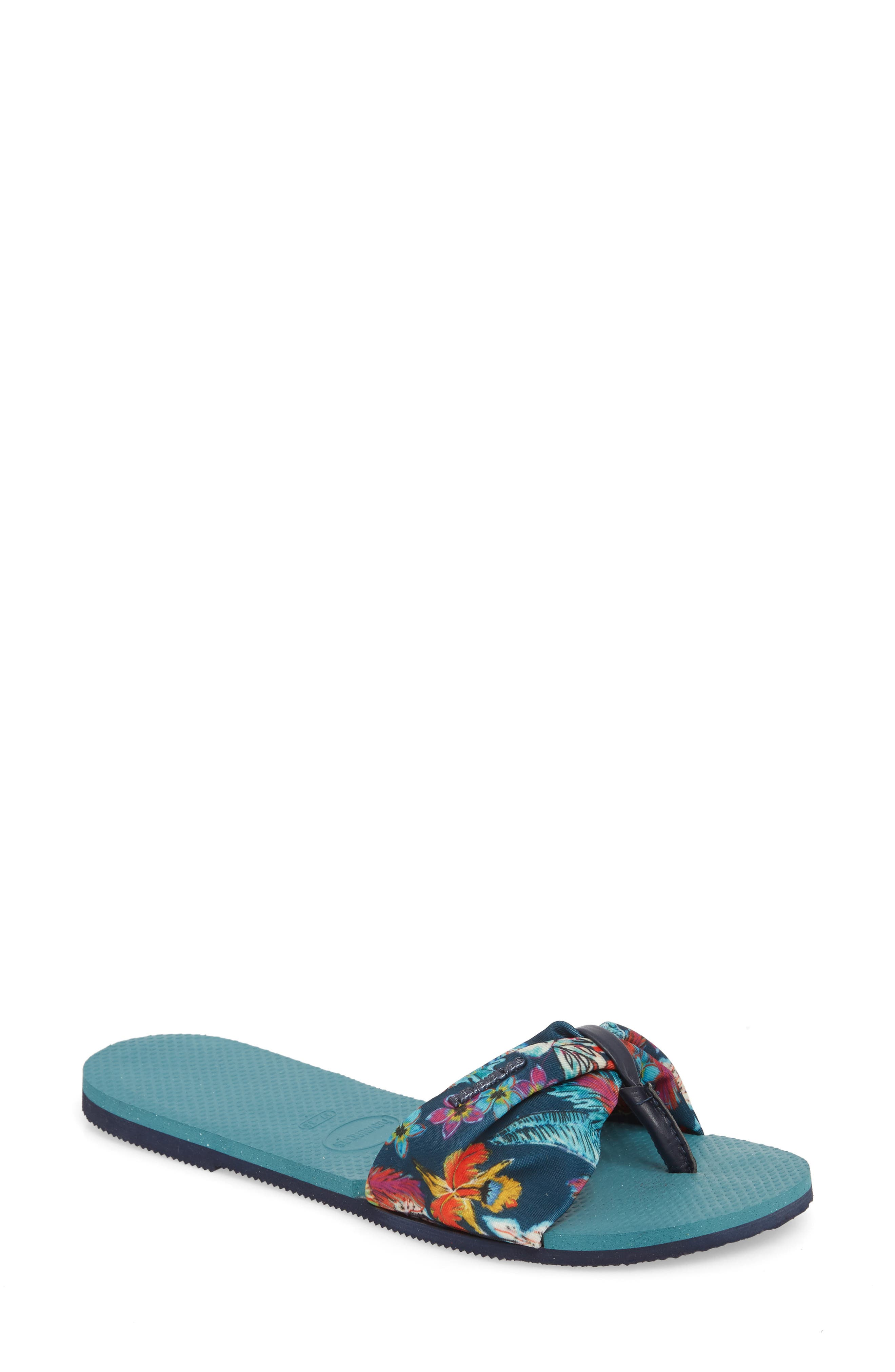 You Saint Tropez Sandal,                         Main,                         color, MINERAL BLUE