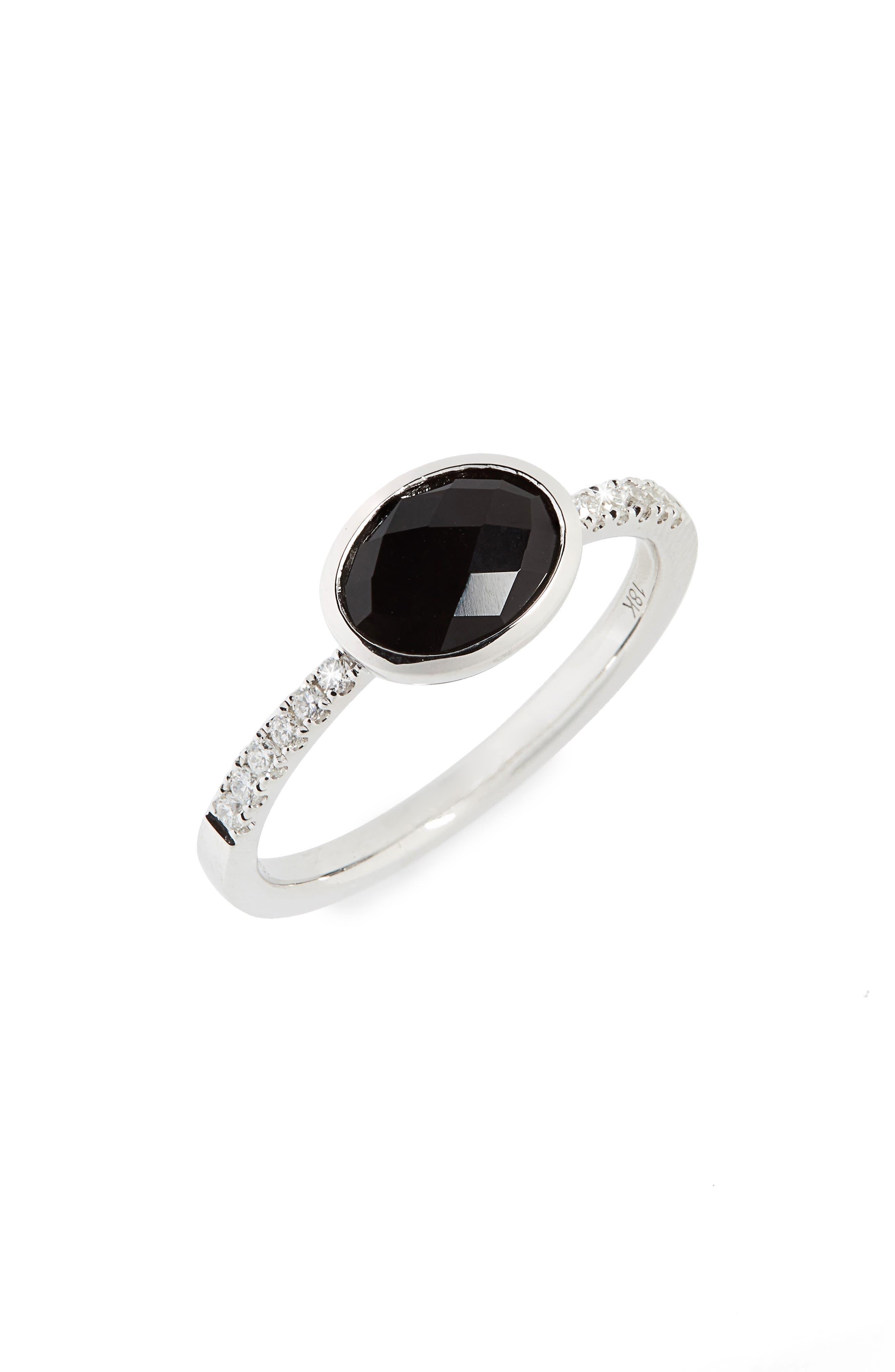 Iris Semiprecious Stone & Diamond Ring,                             Main thumbnail 1, color,