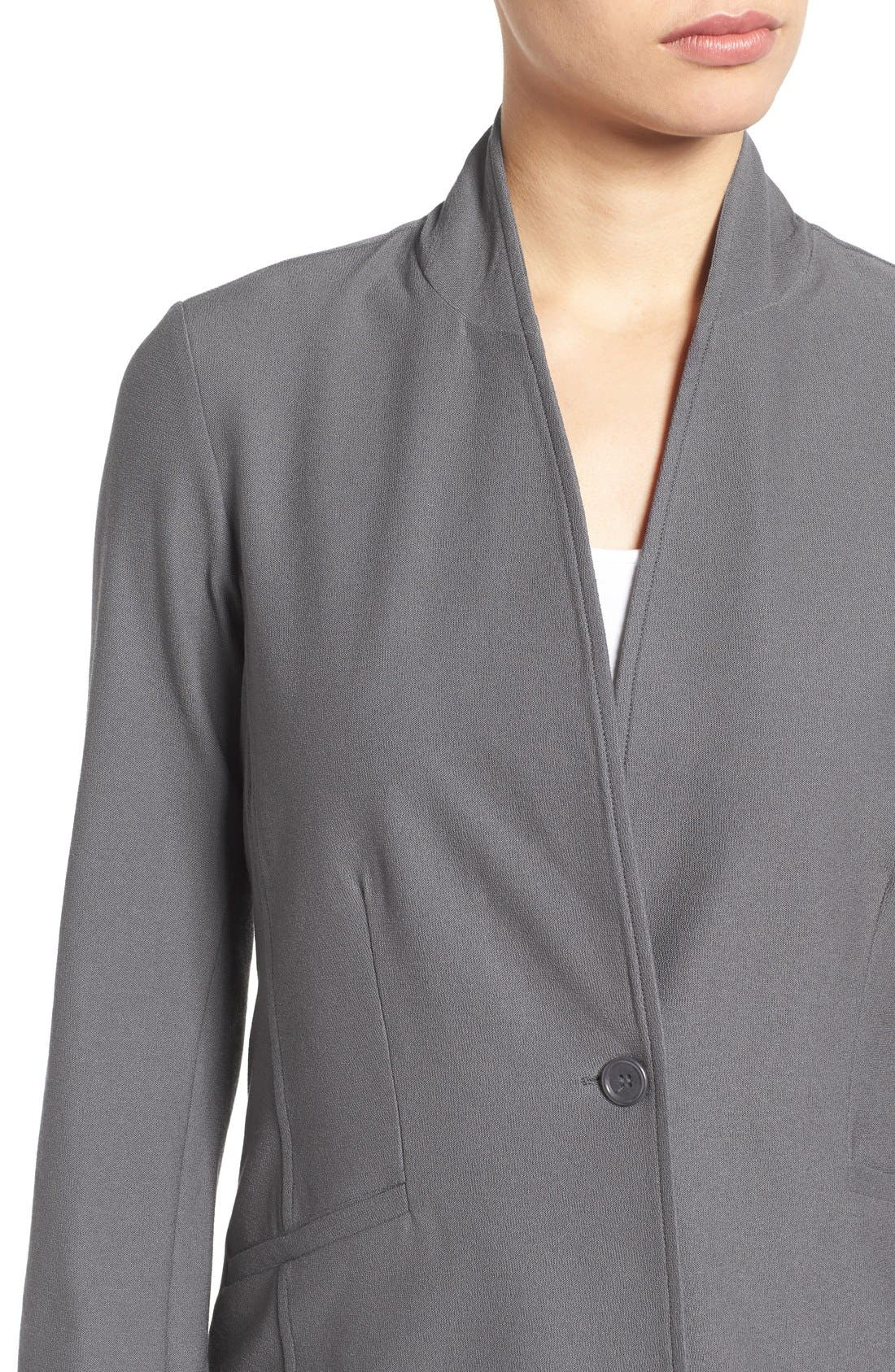 Washable Stretch Crepe Stand Collar Jacket,                             Alternate thumbnail 14, color,