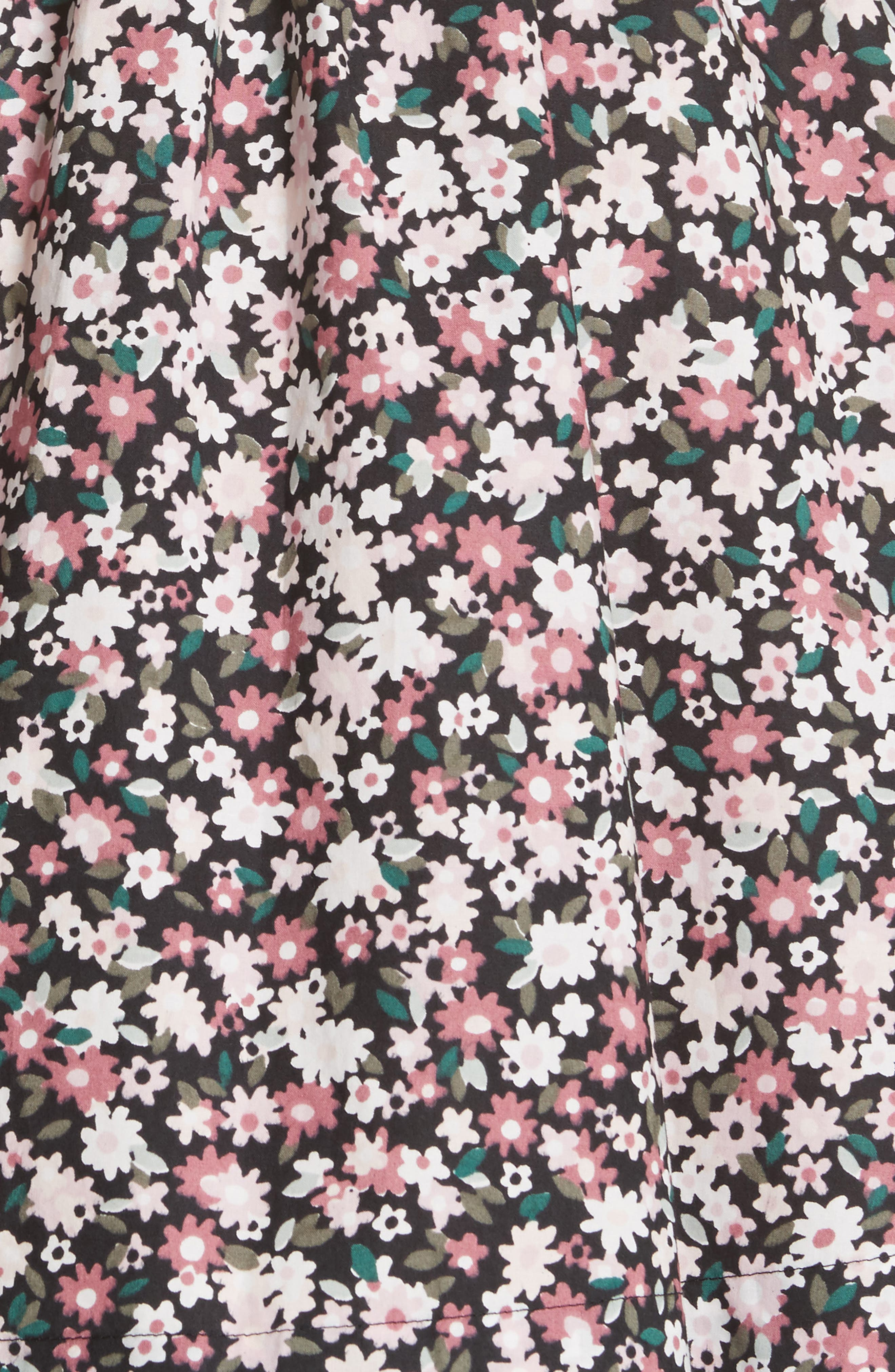 wildflower mixed media dress,                             Alternate thumbnail 5, color,                             001
