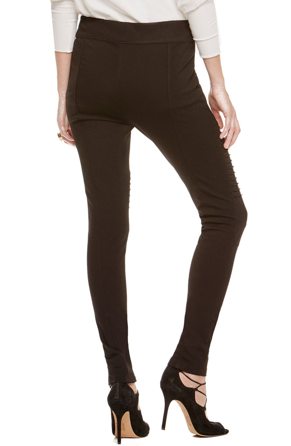 Two by Vince Camuto Ponte Leggings,                             Alternate thumbnail 2, color,                             RICH BLACK
