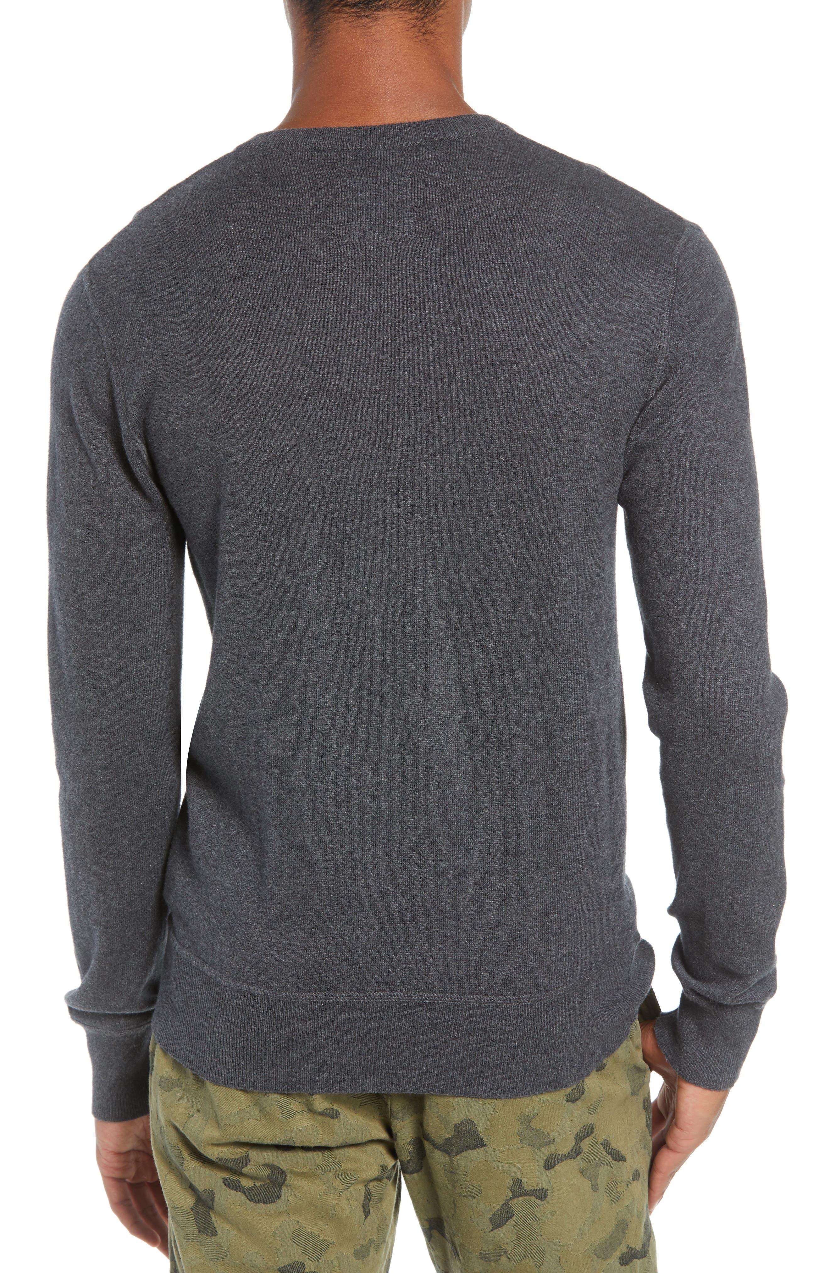 Tournament Slim Fit V-Neck Sweater,                             Alternate thumbnail 2, color,                             HEATHER CHARCOAL