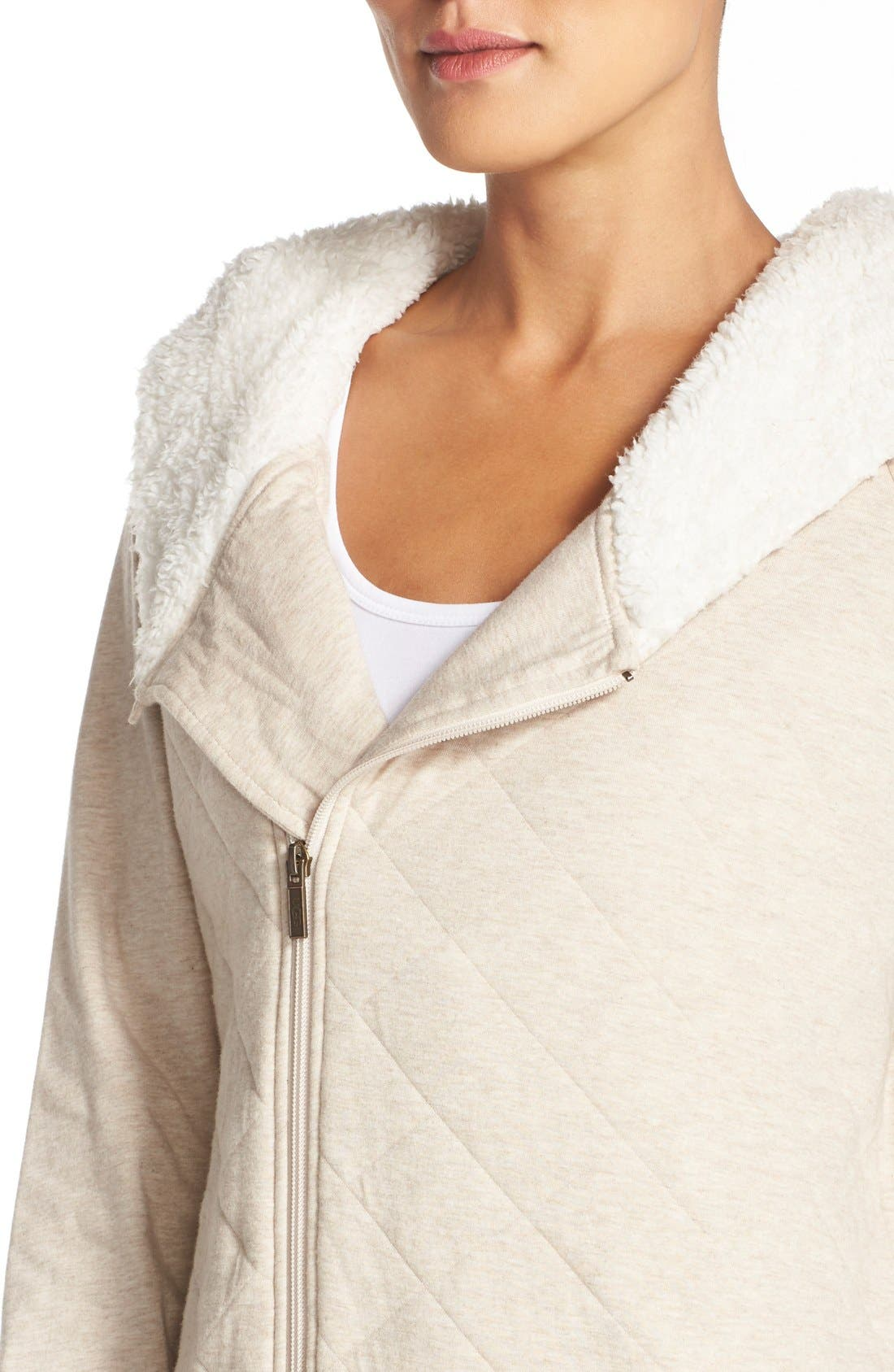 Australia Faux Shearling Lined Hoodie,                             Alternate thumbnail 7, color,