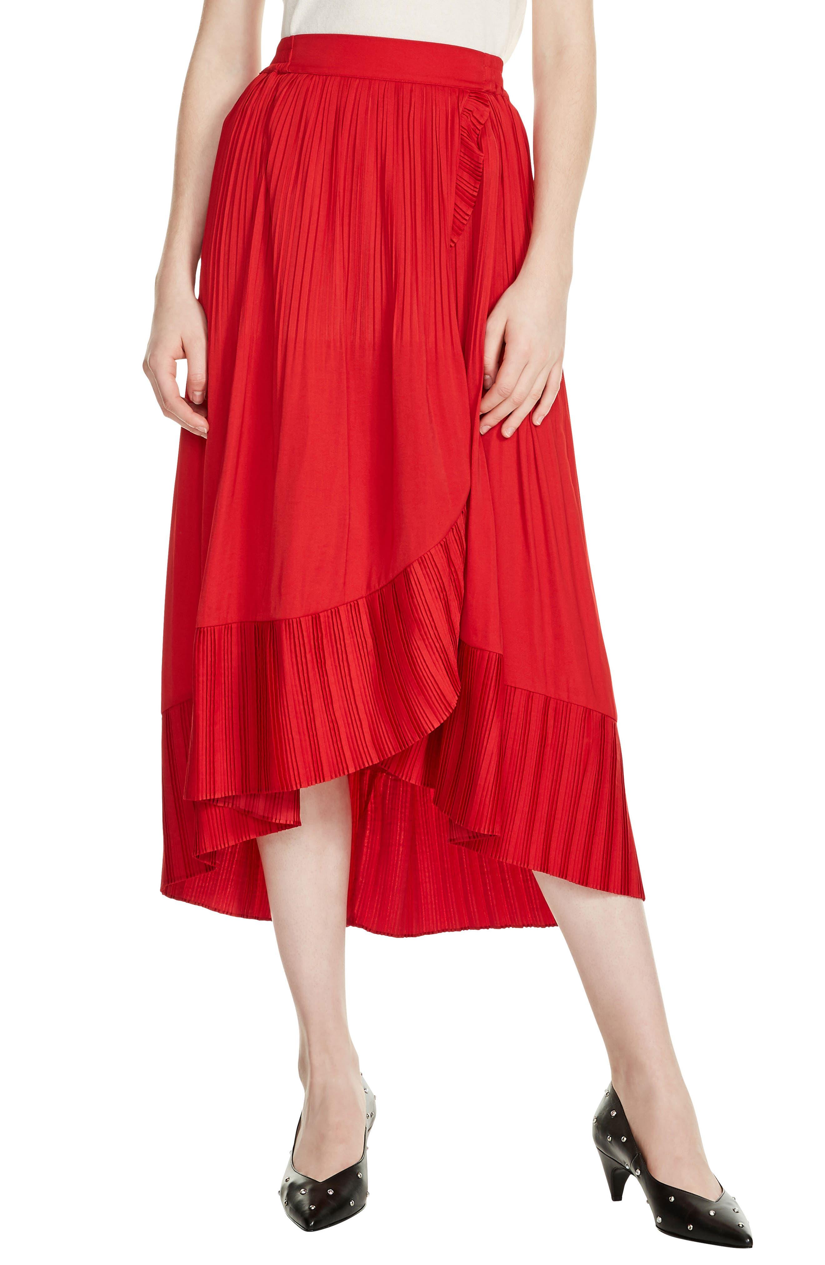 Jonette Faux Wrap Midi Skirt,                             Main thumbnail 1, color,                             600