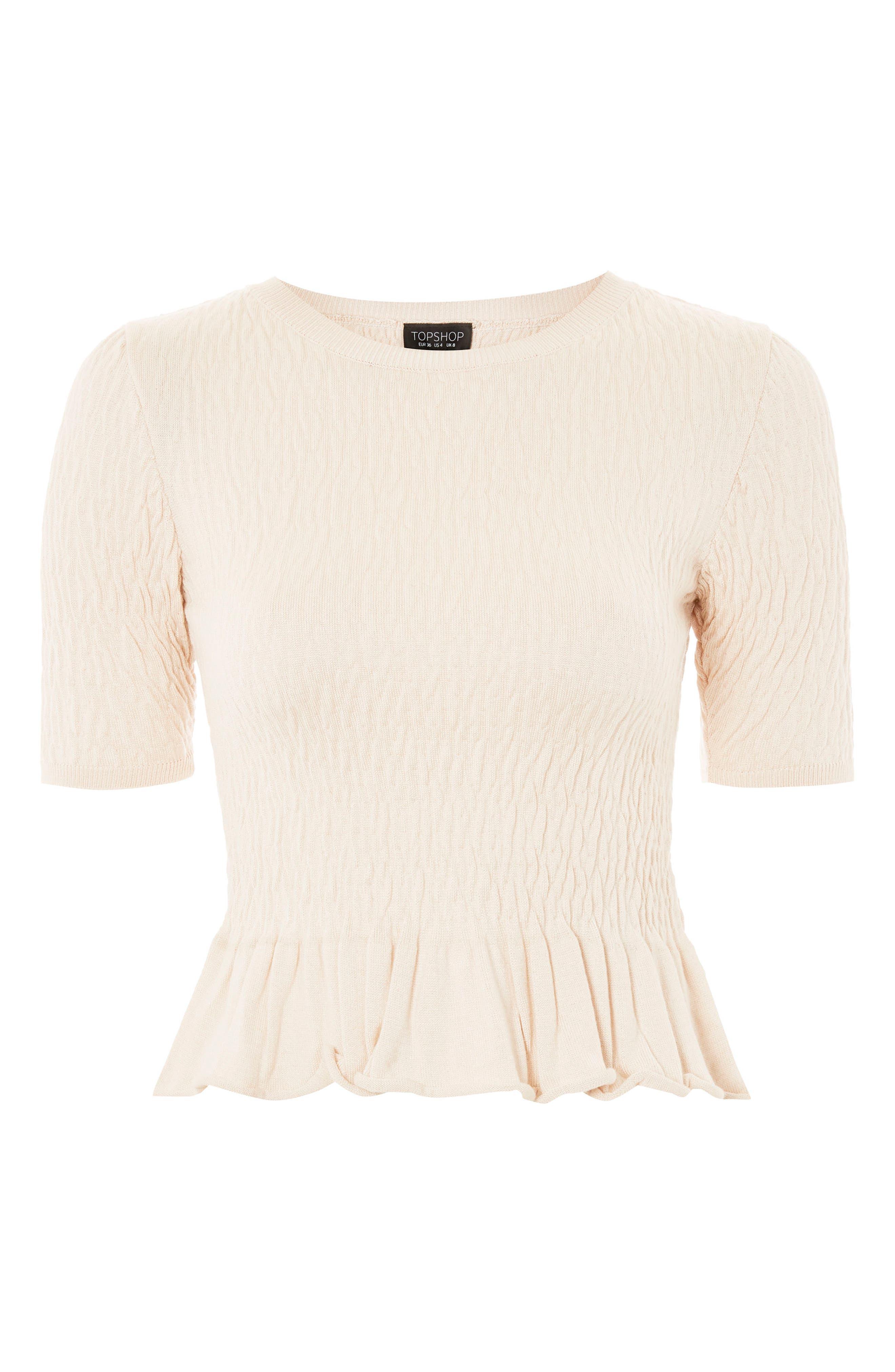 Shirred T-Shirt,                             Alternate thumbnail 3, color,                             250