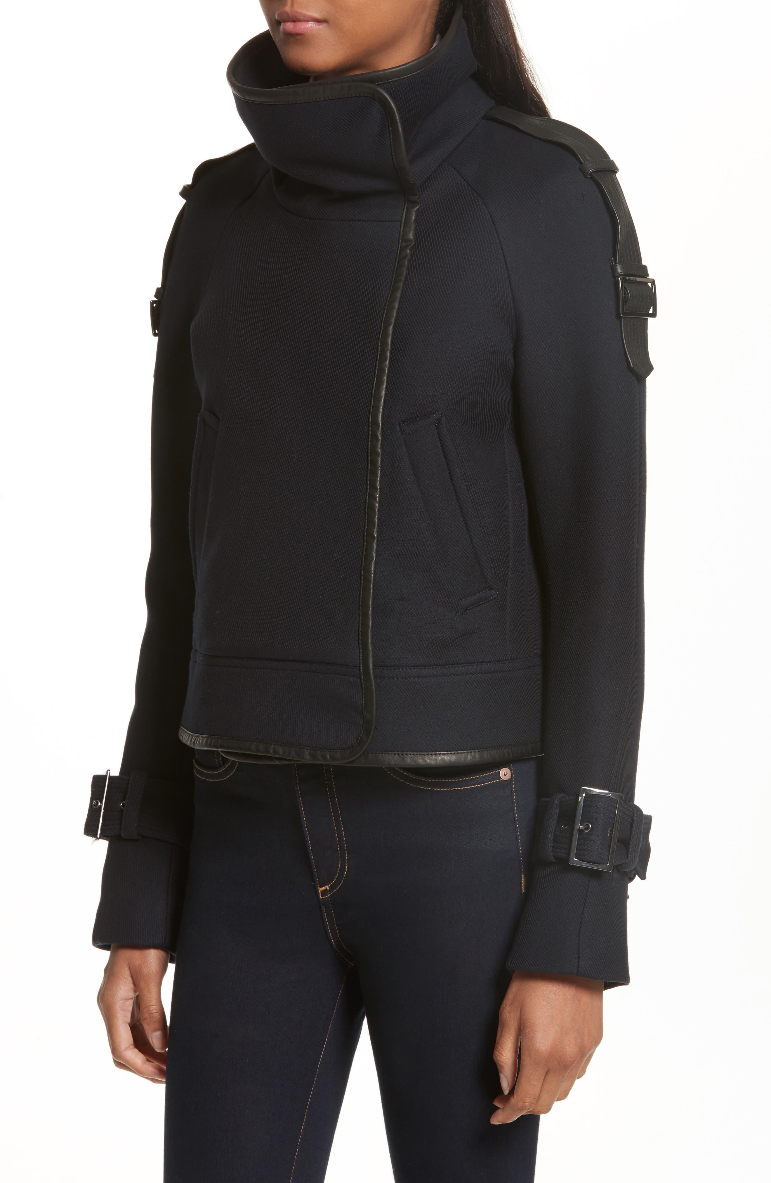 Lafayette Leather Trim Snap Jacket,                             Alternate thumbnail 4, color,                             410