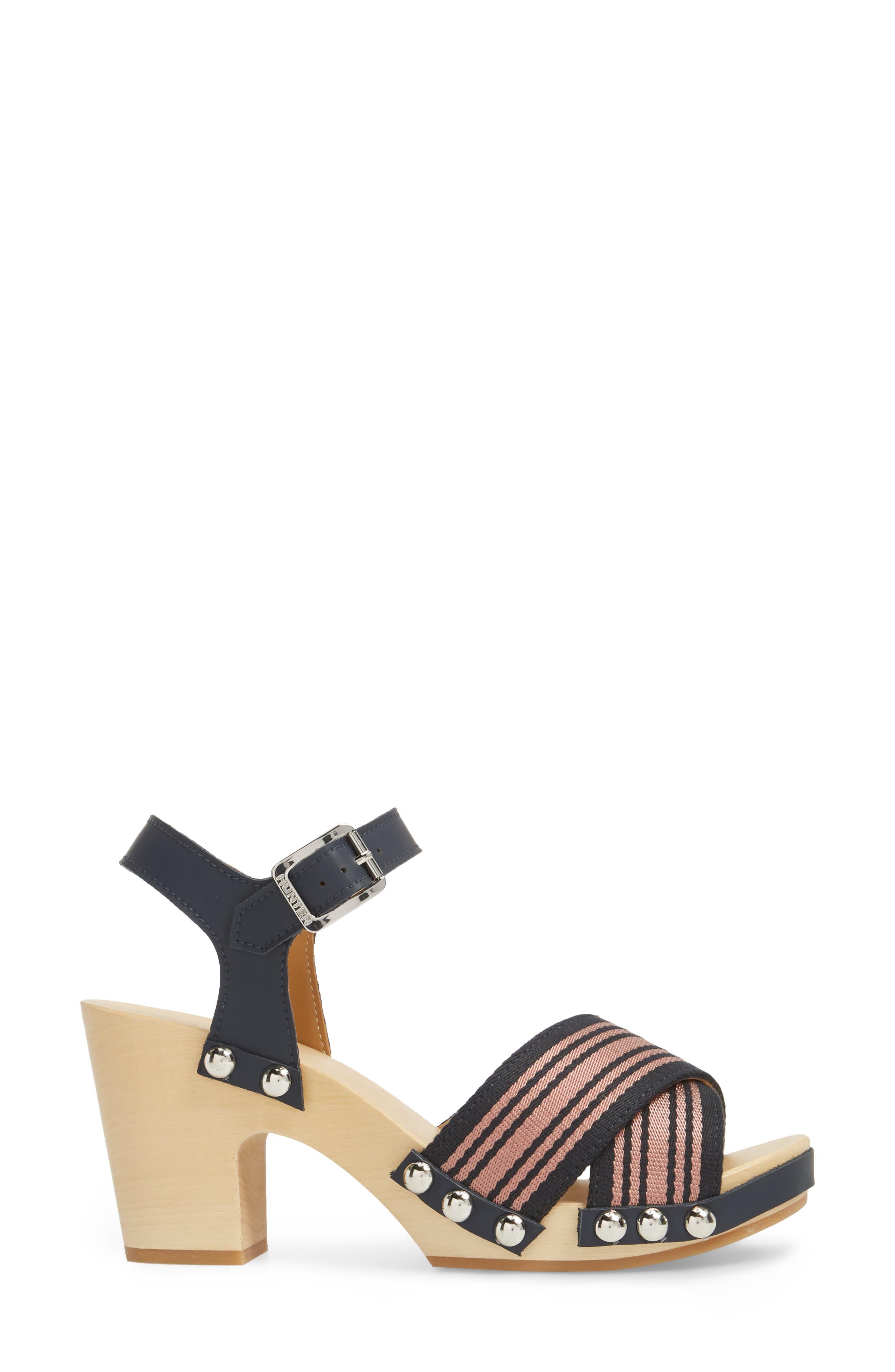 Crisscross Sandal,                             Alternate thumbnail 3, color,                             NAVY/ PALE ROSE