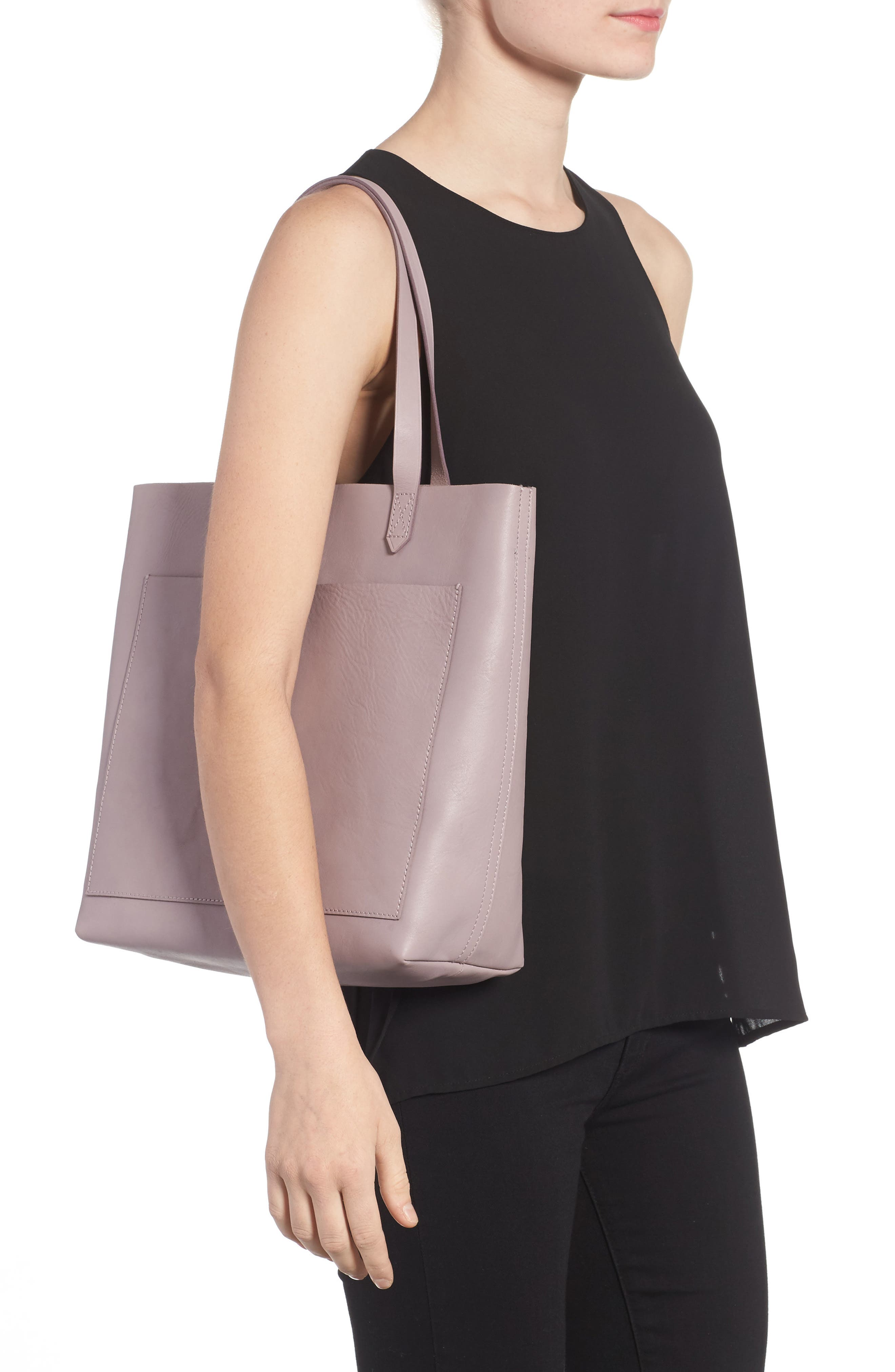 Medium Leather Transport Tote,                             Alternate thumbnail 22, color,