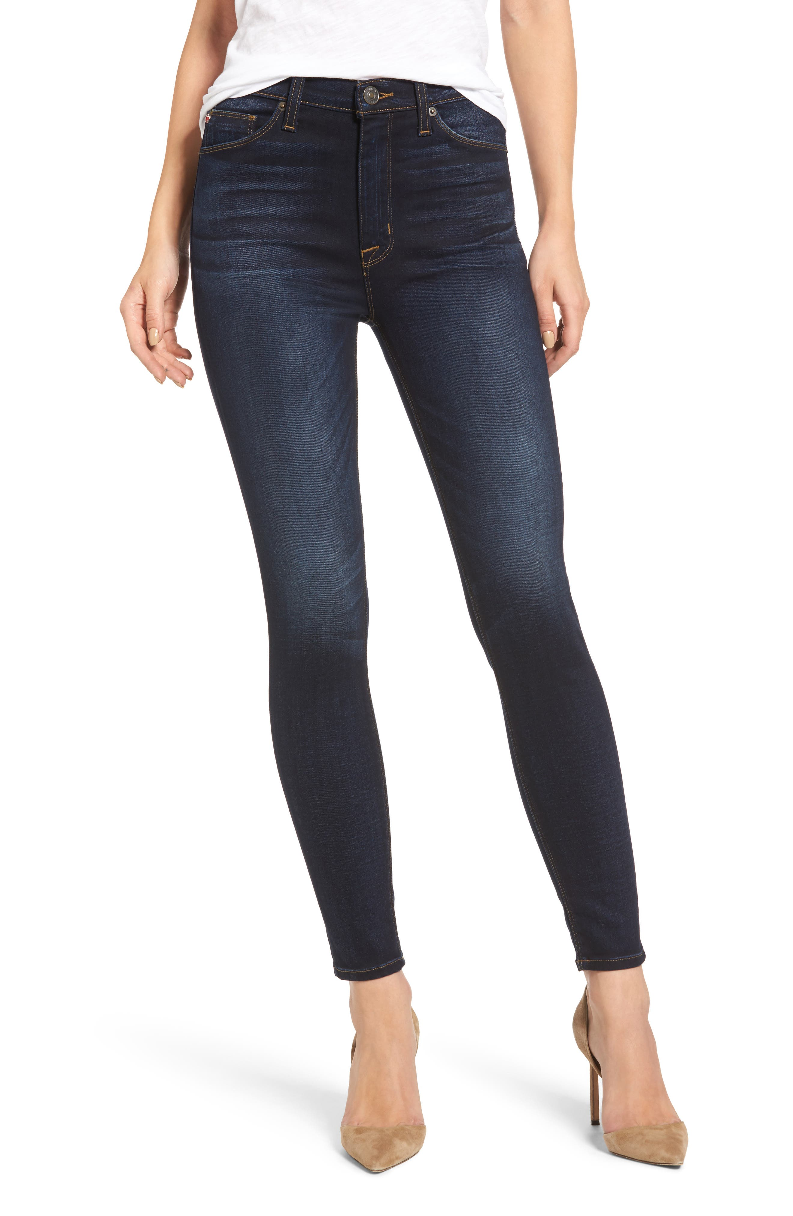 Barbara High Waist Super Skinny Jeans,                         Main,                         color, 402