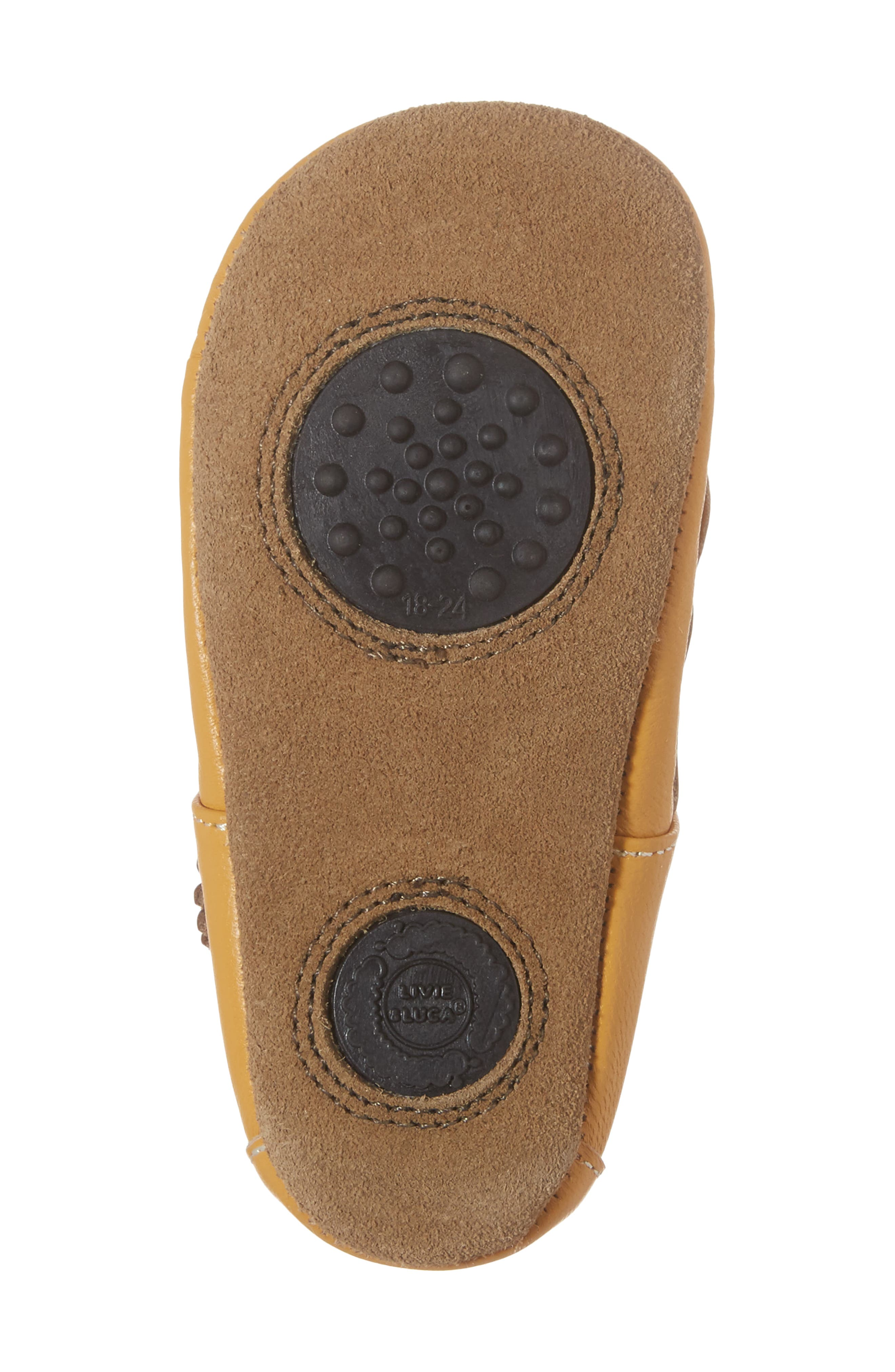 'Ruche' Mary Jane Crib Shoe,                             Alternate thumbnail 6, color,                             BUTTERSCOTCH LEATHER