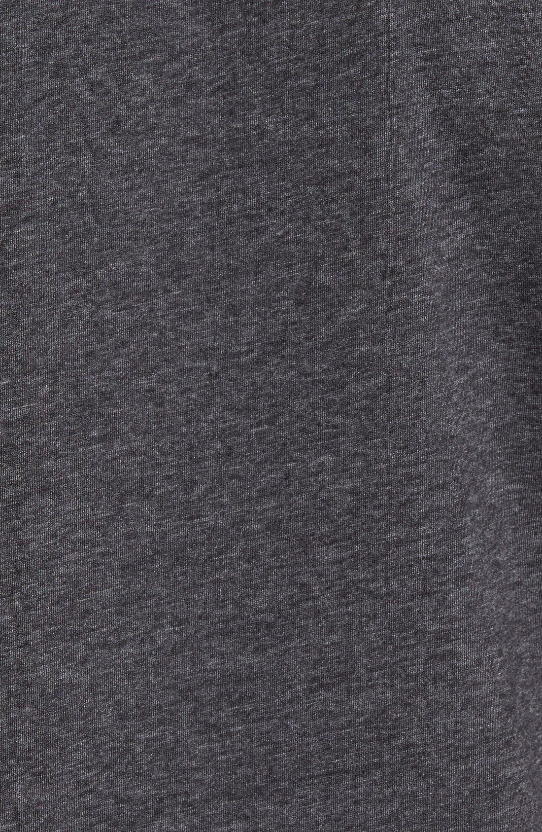 Recycled Cotton Blend T-Shirt,                             Alternate thumbnail 5, color,                             001