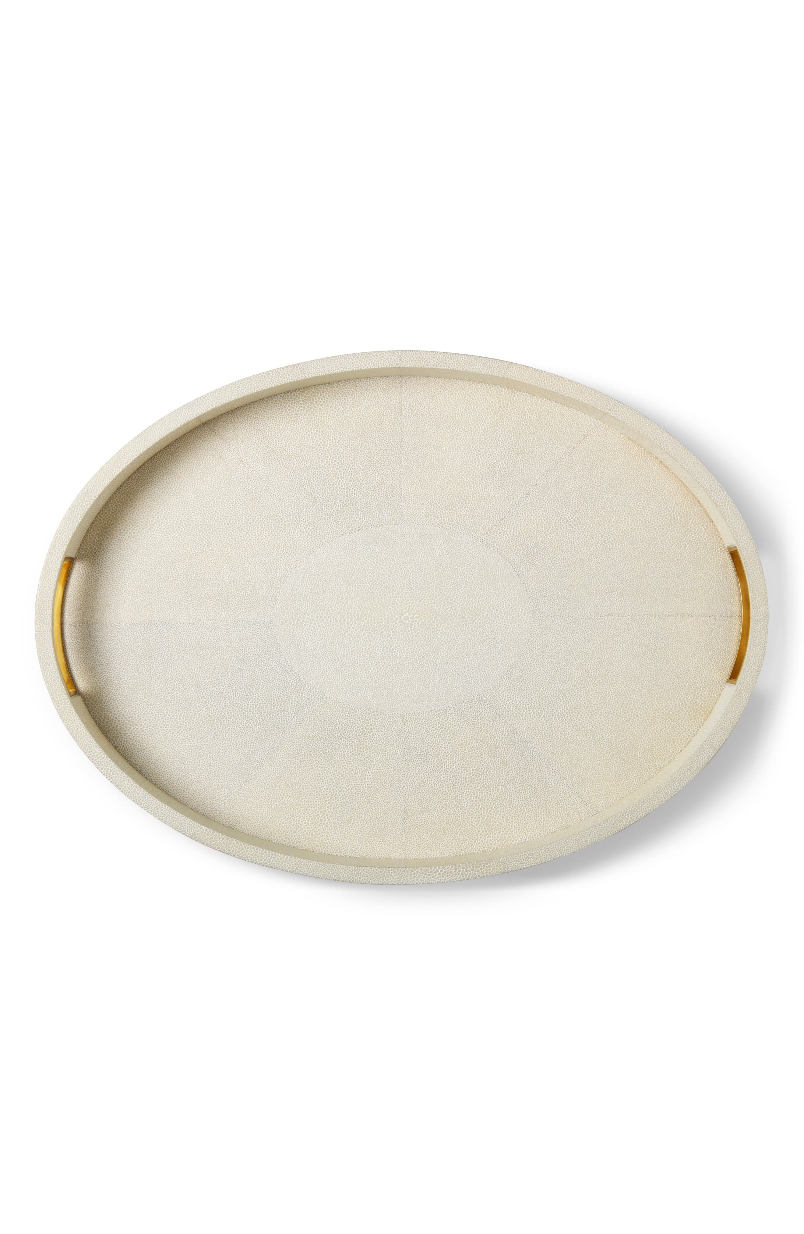 Modern Shagreen Cocktail Tray,                             Alternate thumbnail 2, color,                             CREAM