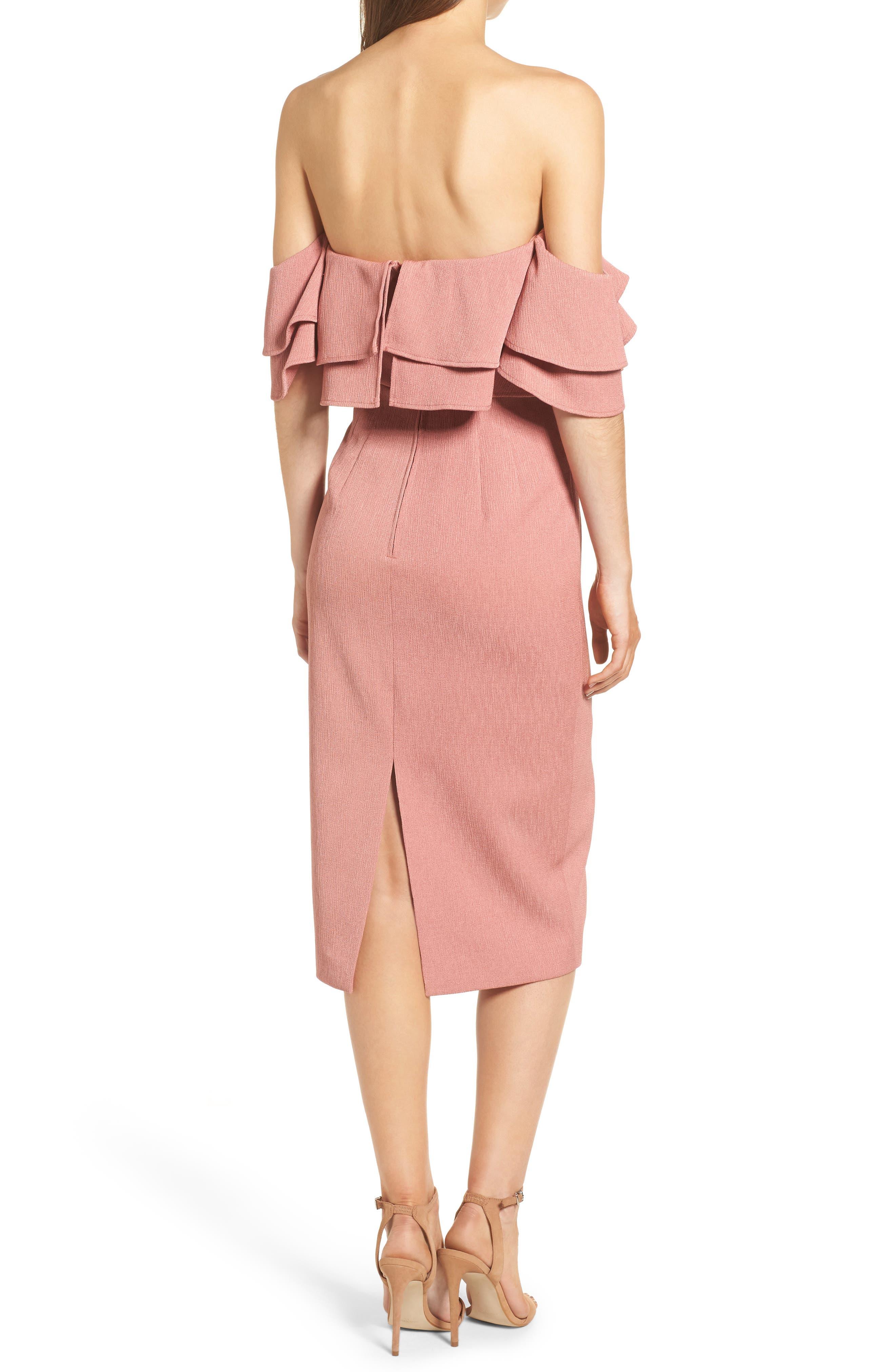 No Reason Off the Shoulder Sheath Dress,                             Alternate thumbnail 2, color,                             650
