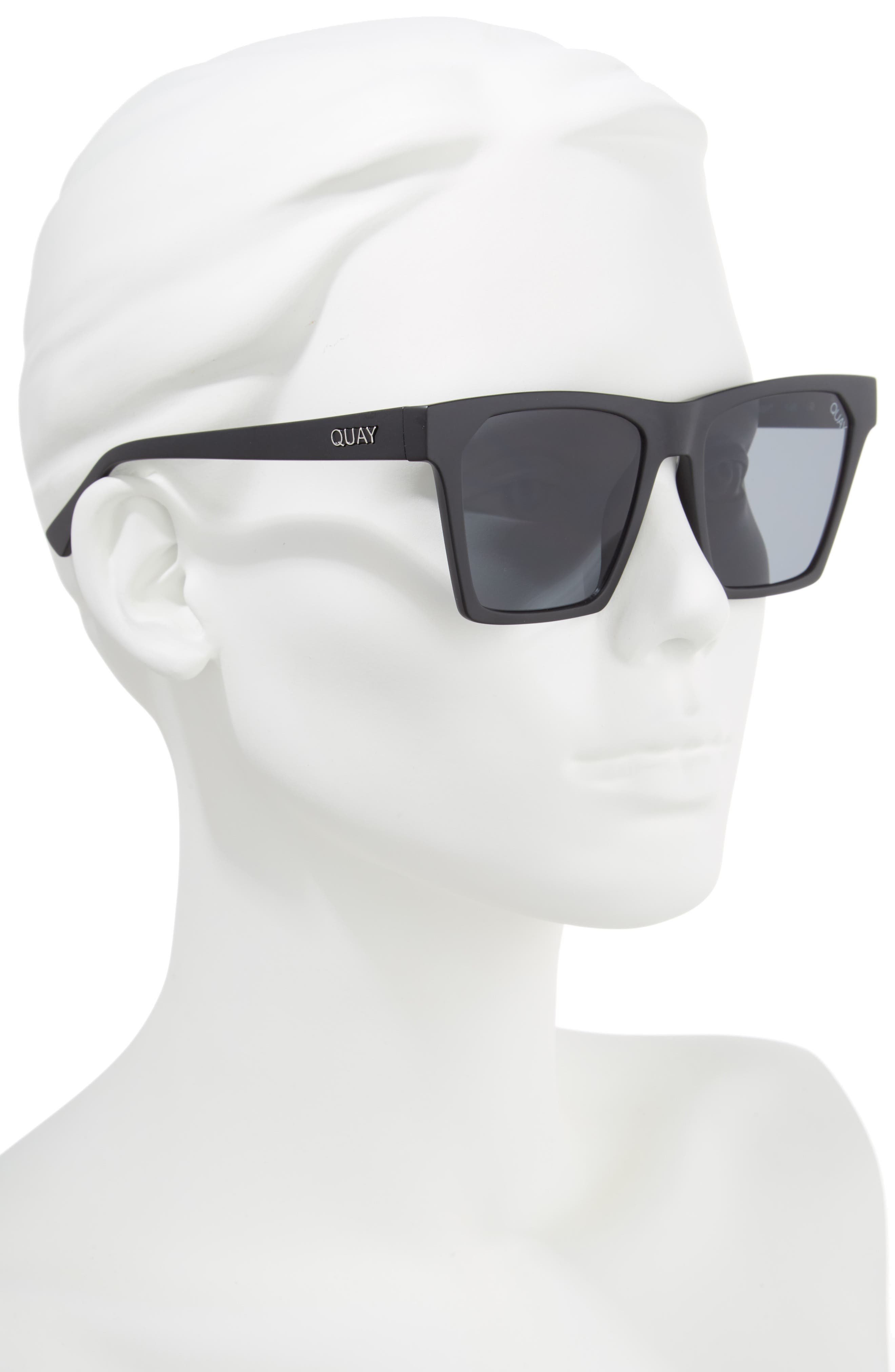 x Missguided Alright 55mm Square Sunglasses,                             Alternate thumbnail 2, color,                             001