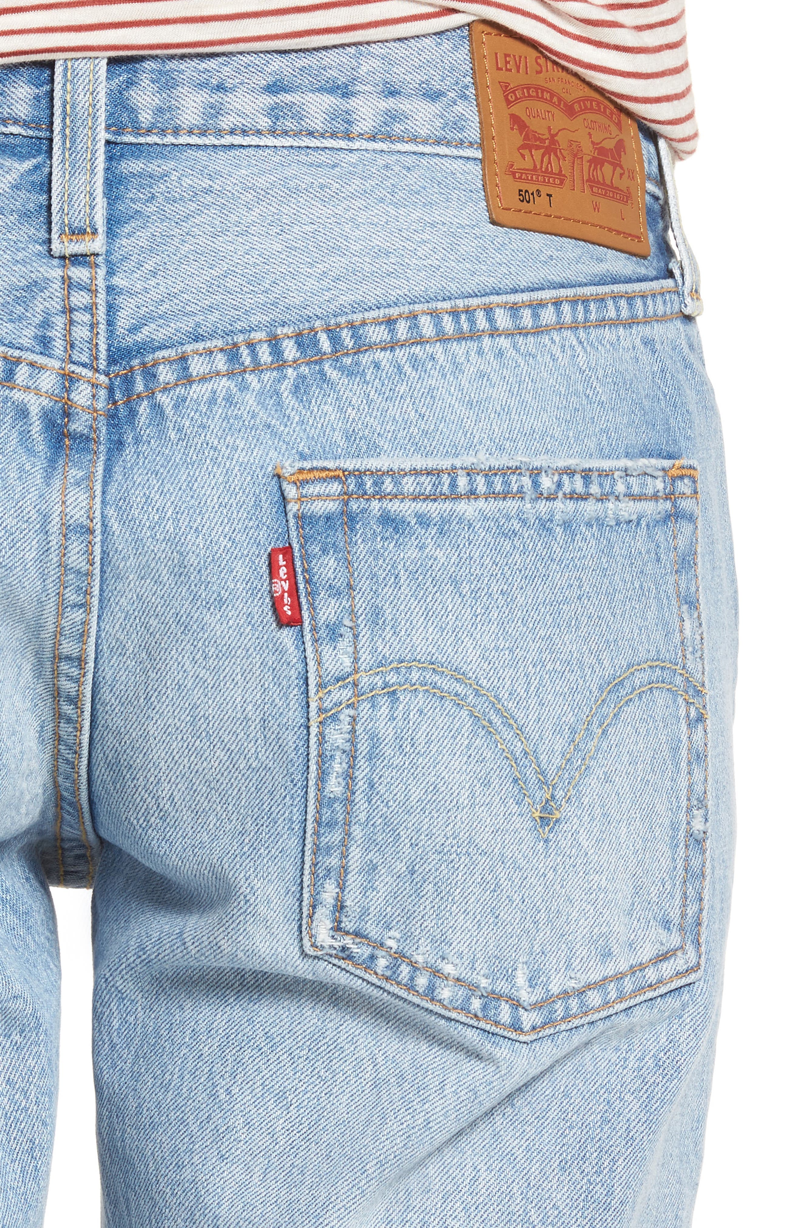 501<sup>®</sup> Boyfriend Jeans,                             Alternate thumbnail 4, color,                             450