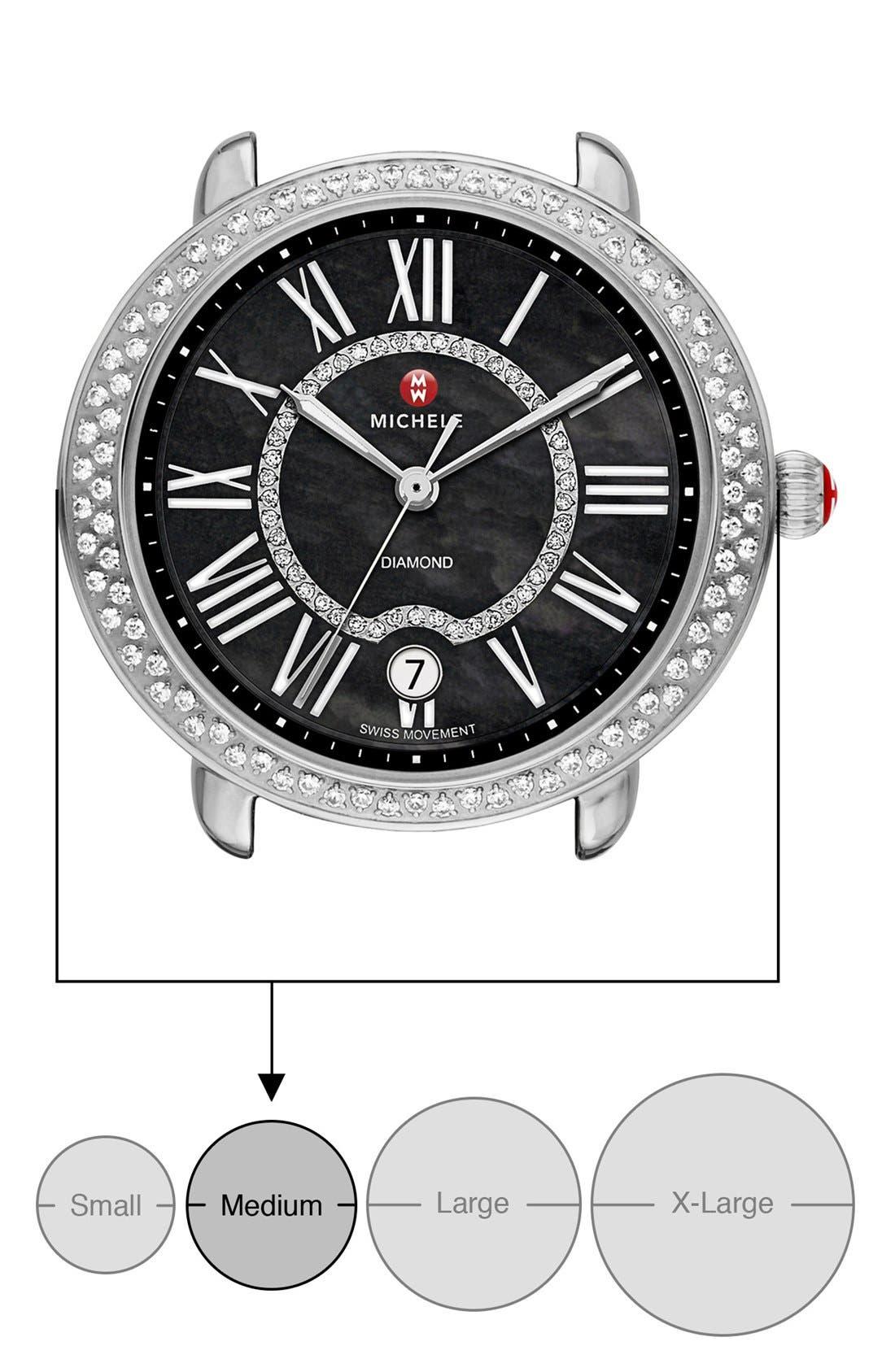 Serein 16 Diamond Watch Case, 34mm x 36mm,                             Alternate thumbnail 17, color,