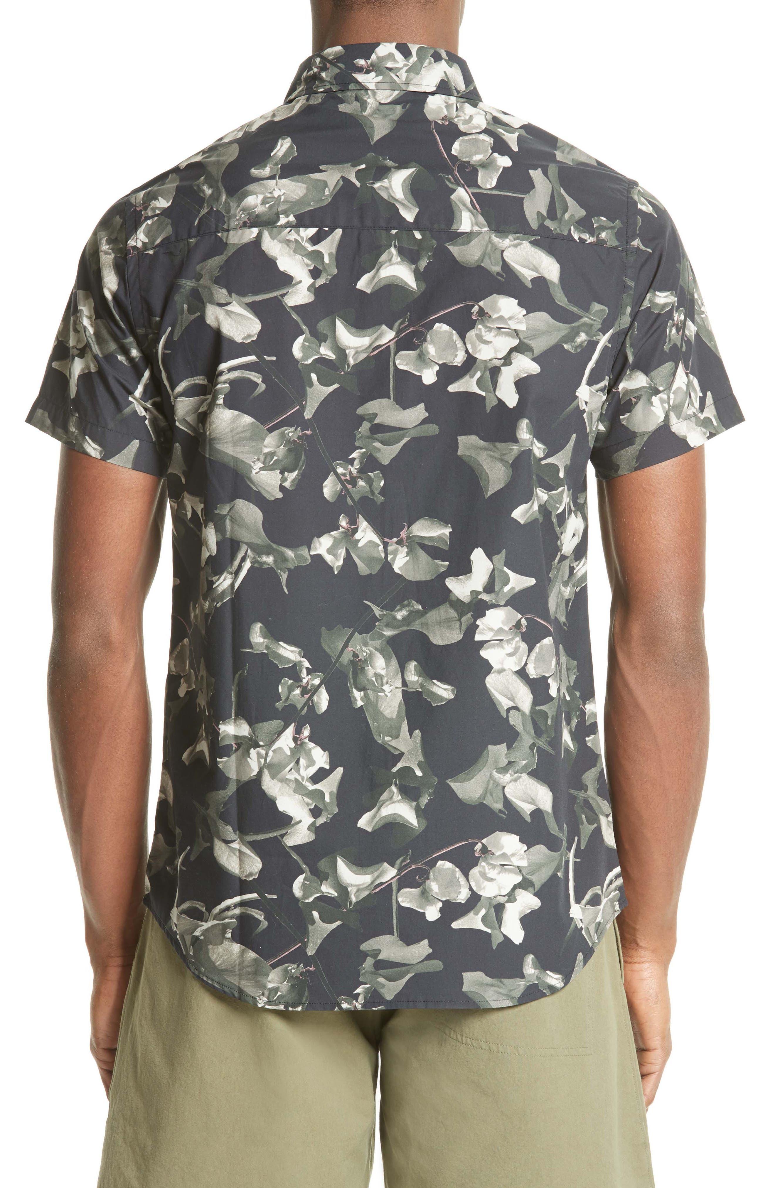 Esquina Petals Print Trim Fit Sport Shirt,                             Alternate thumbnail 2, color,                             020