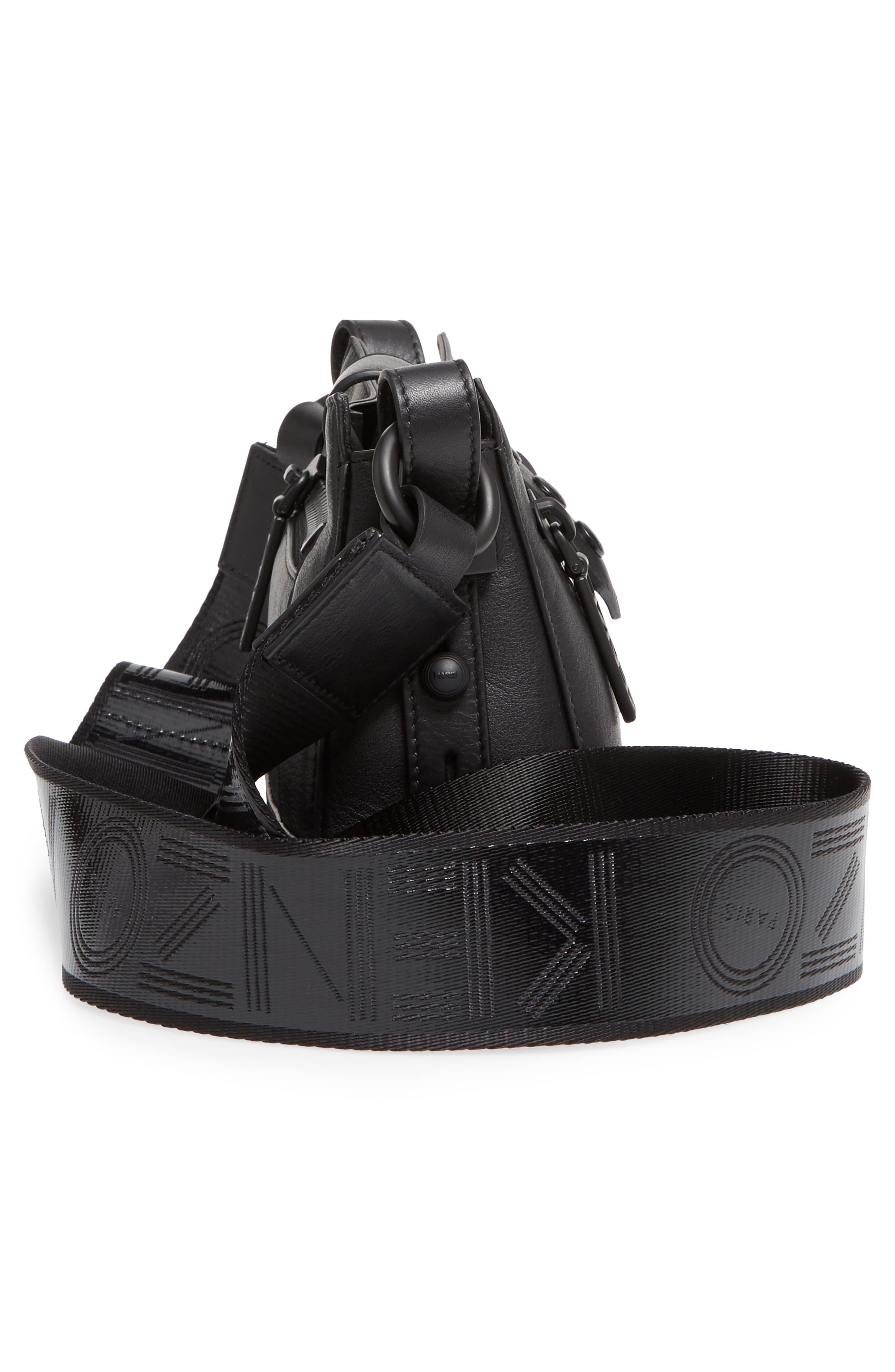 Mini Kalifornia Leather Shoulder Bag,                             Alternate thumbnail 5, color,                             001