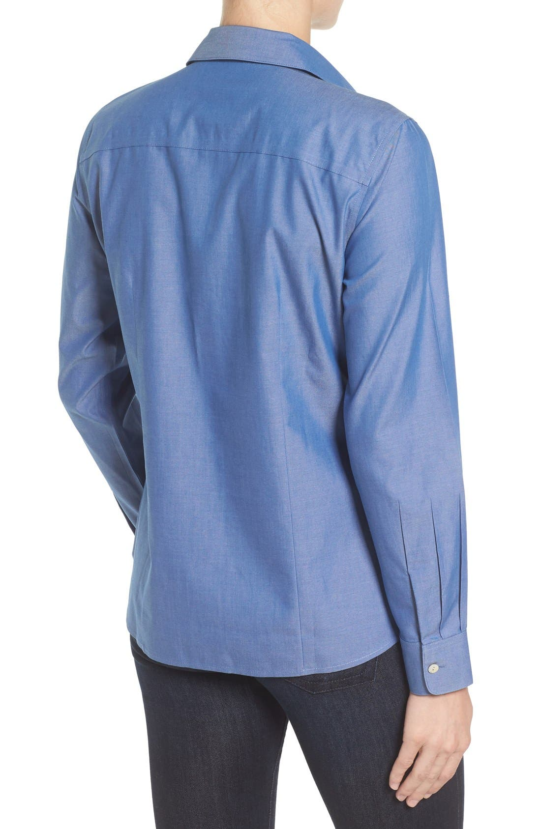 Non-Iron Fitted Shirt,                             Alternate thumbnail 11, color,