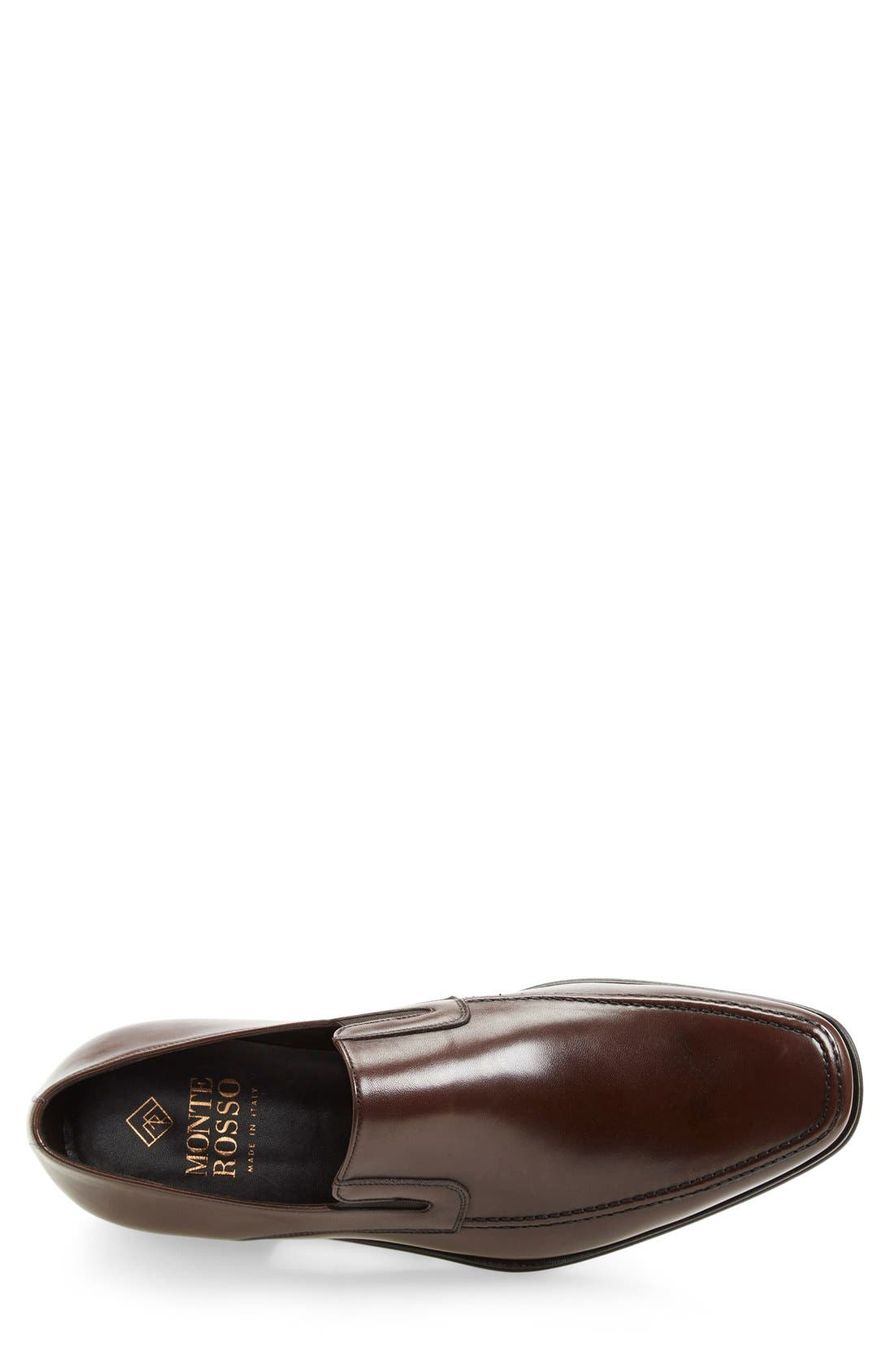 Lucca Nappa Leather Loafer,                             Alternate thumbnail 3, color,                             BROWN