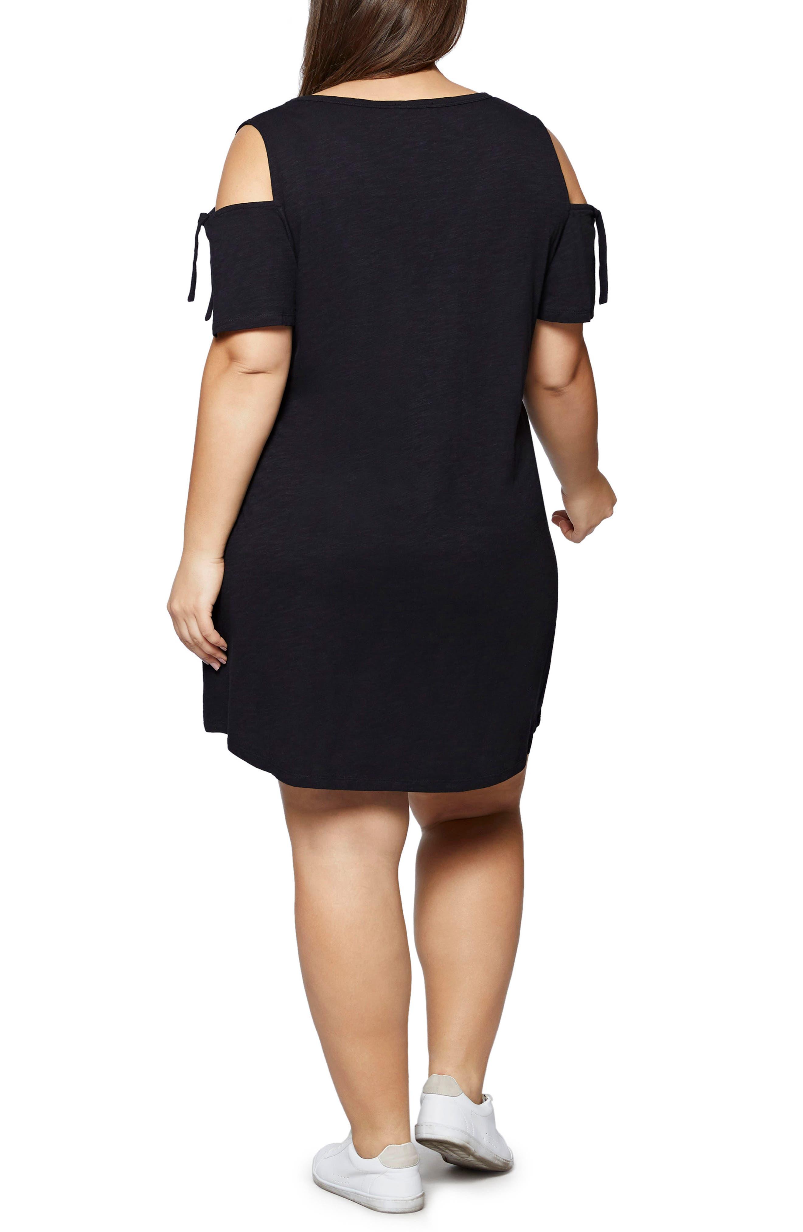 Lakeside T-Shirt Dress,                             Alternate thumbnail 2, color,                             001
